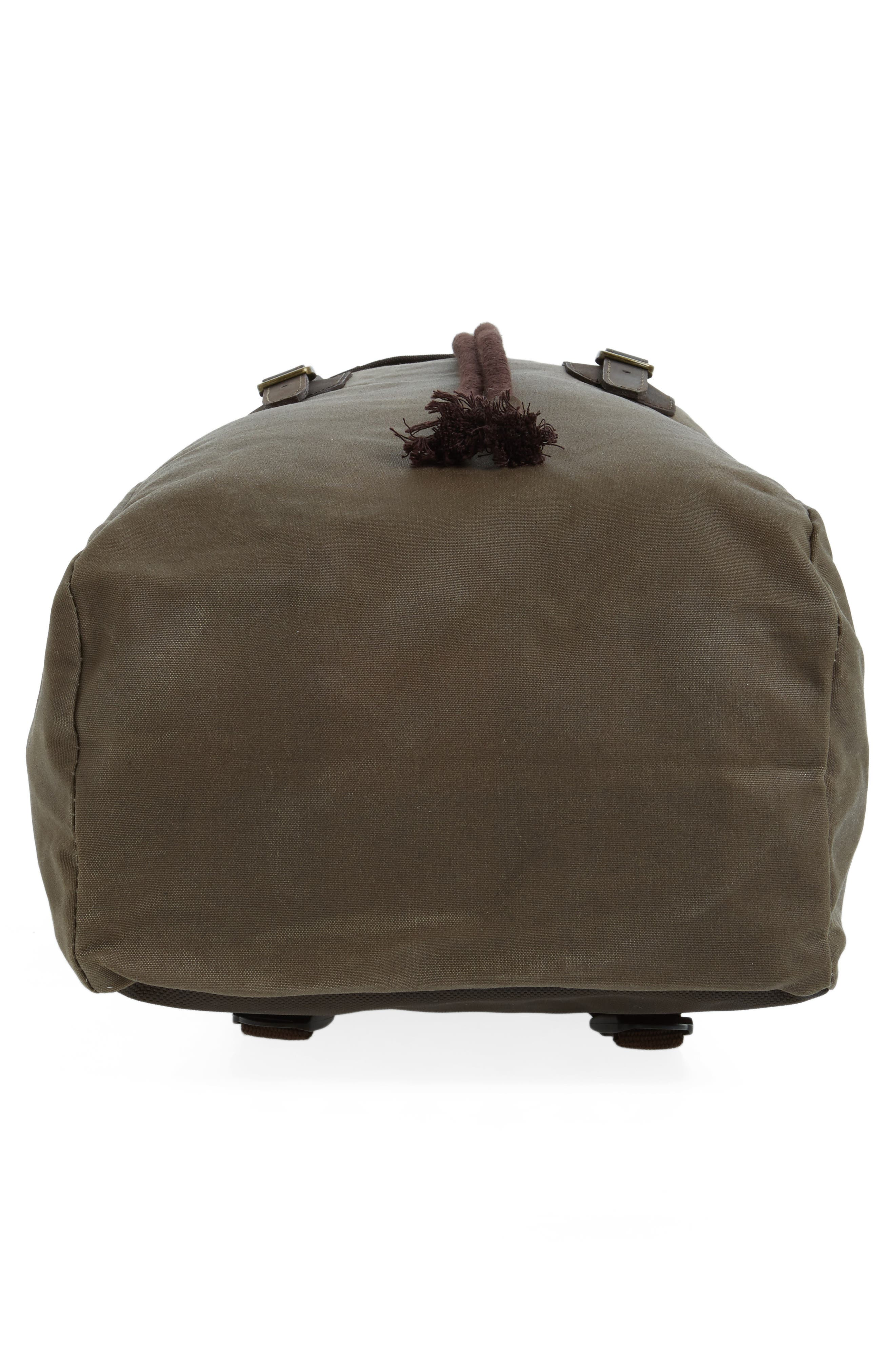 Waxed Canvas Backpack,                             Alternate thumbnail 6, color,                             220