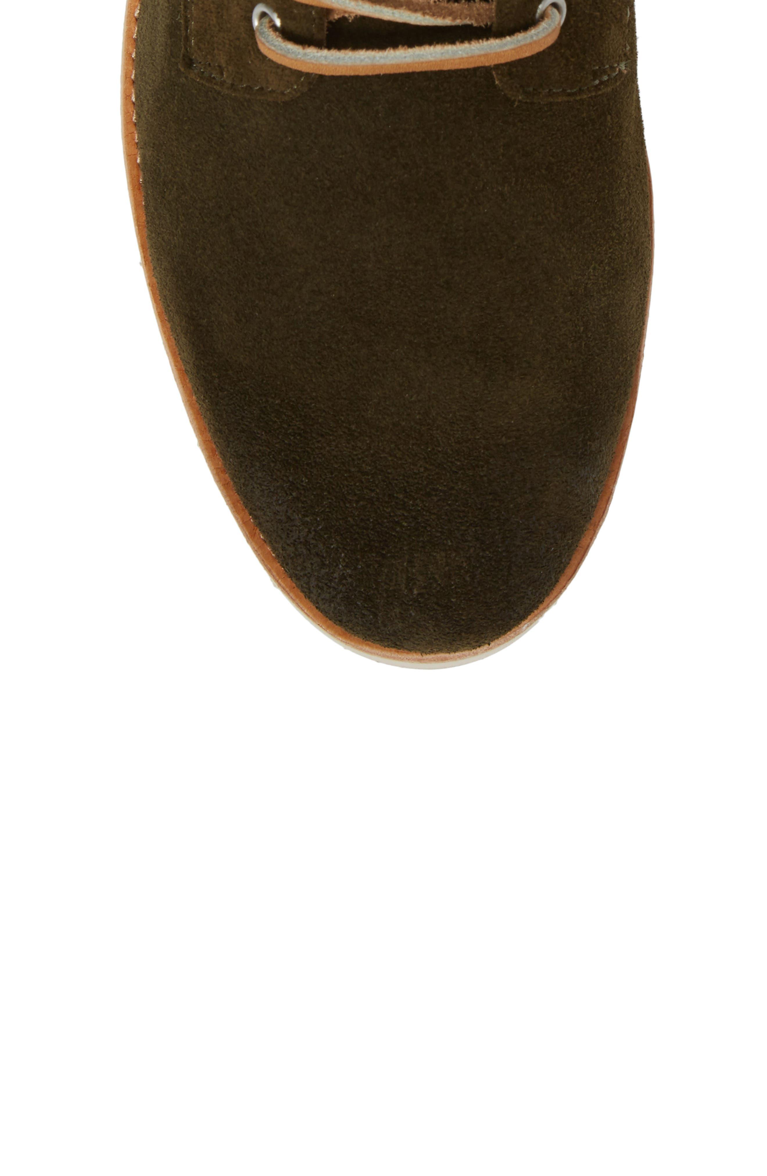 OM 53 Plain Toe Boot,                             Alternate thumbnail 5, color,                             DARK GREEN LEATHER