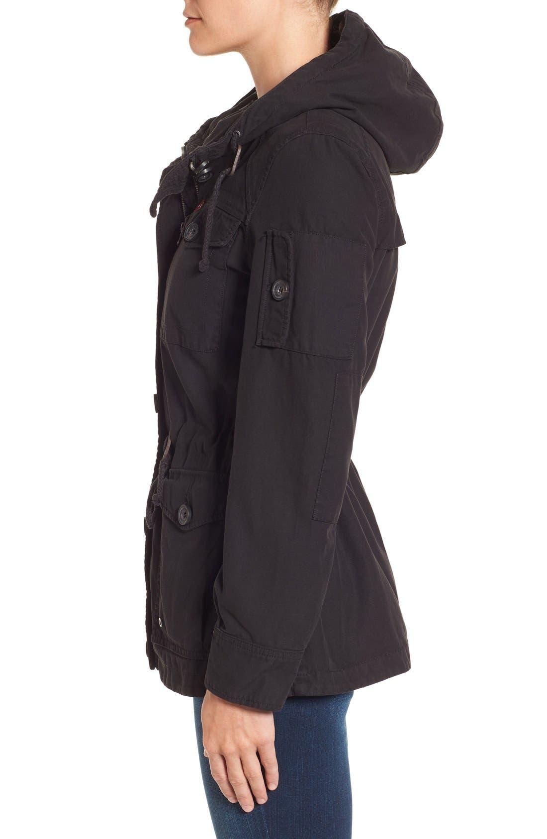 Cotton Twill Utility Jacket,                             Alternate thumbnail 2, color,                             001
