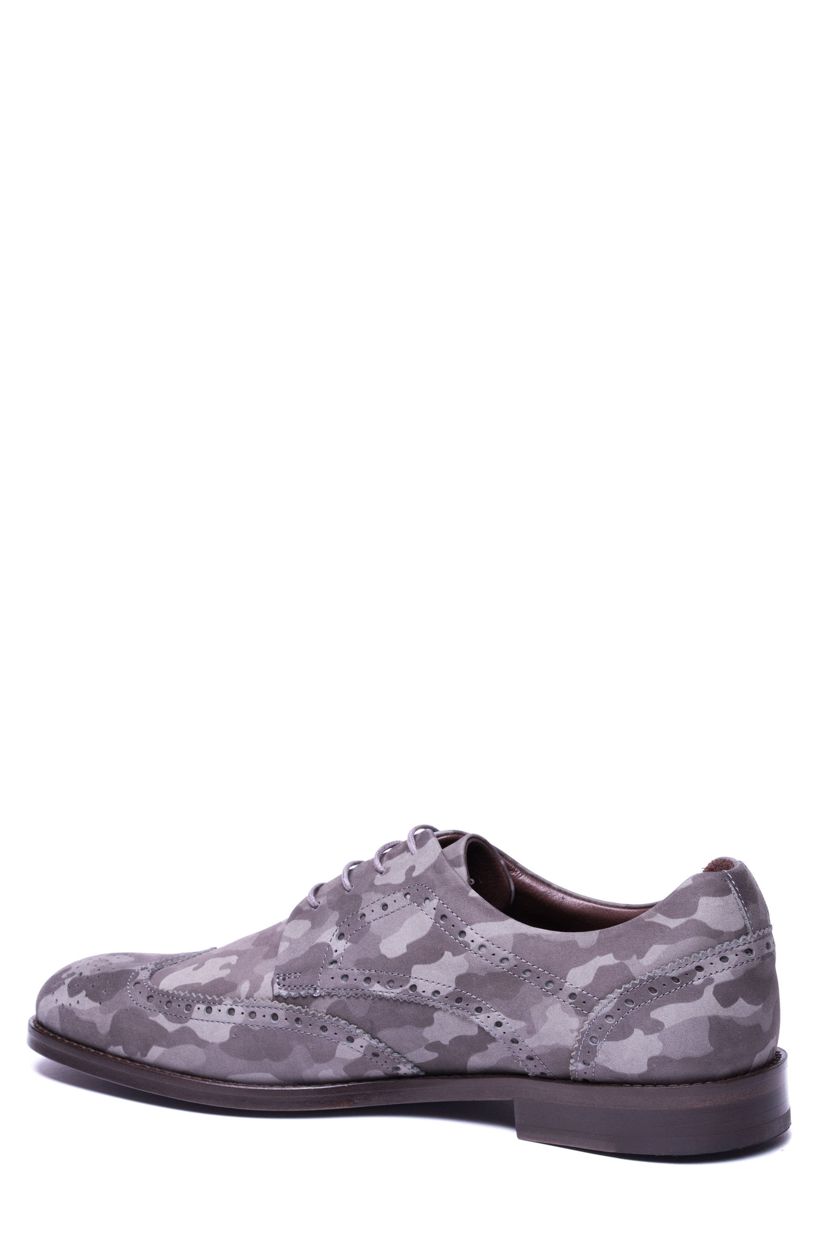 Caleb Camo Wingtip Derby,                             Alternate thumbnail 2, color,                             GREY CAMO LEATHER