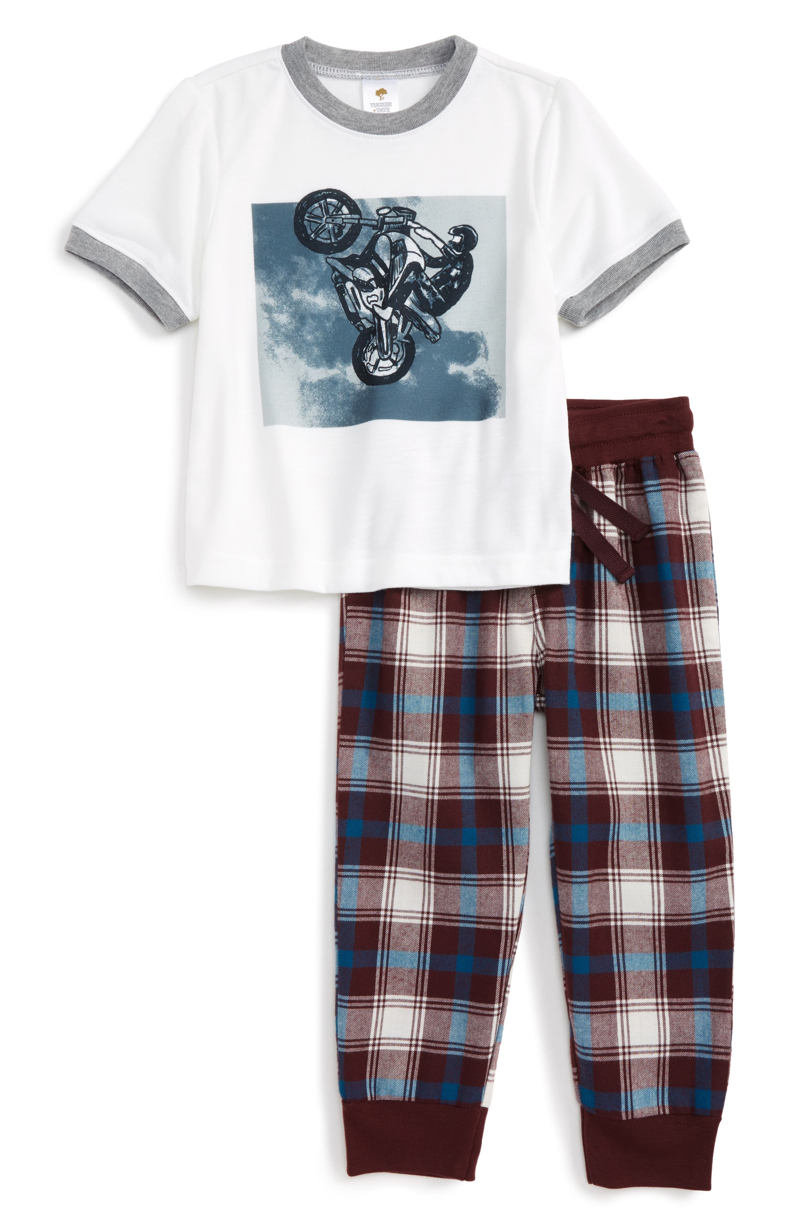 Graphic Two-Piece Pajamas Set,                             Main thumbnail 4, color,