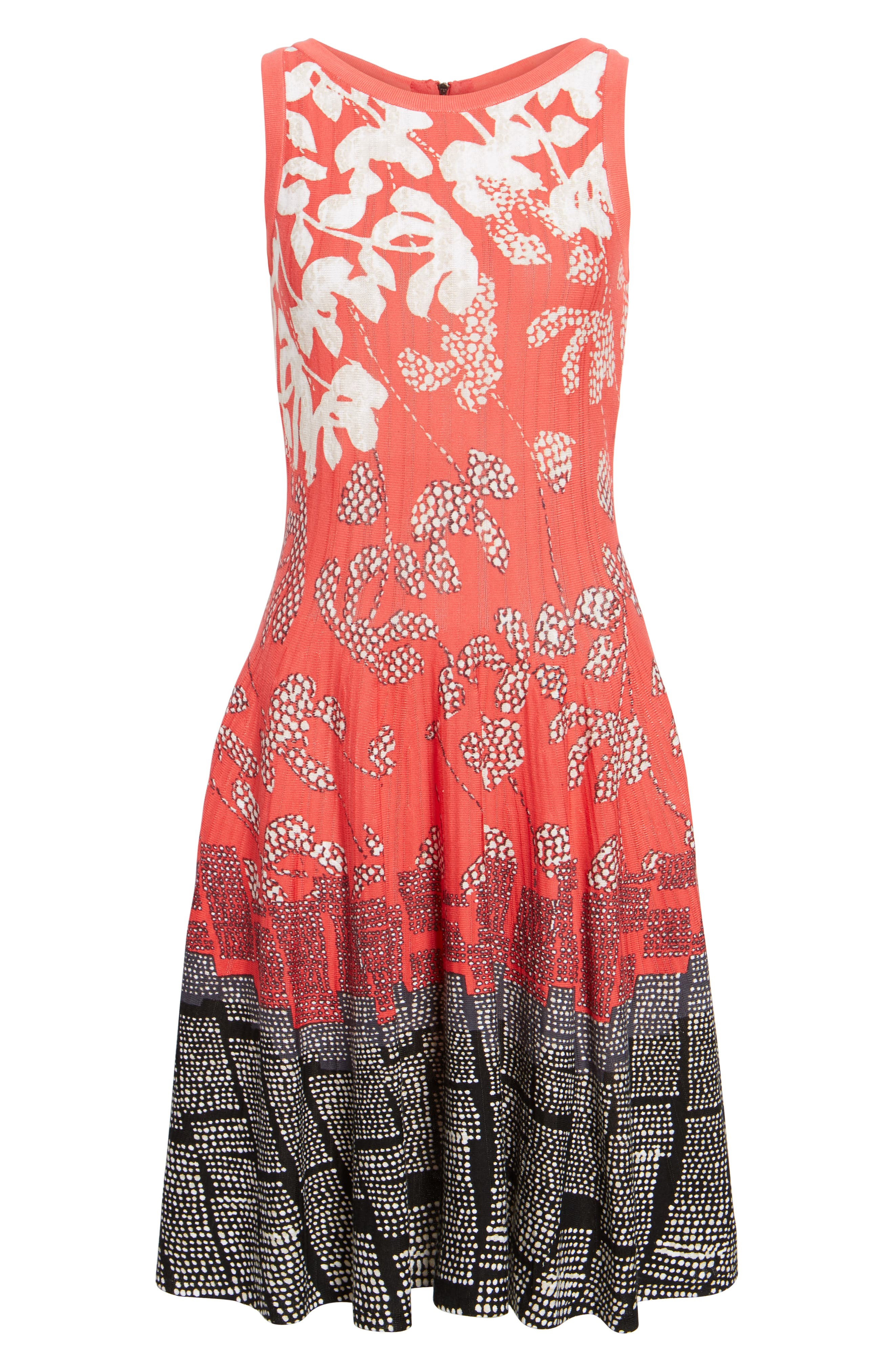 Terrace Twirl Fit & Flare Dress,                             Alternate thumbnail 6, color,