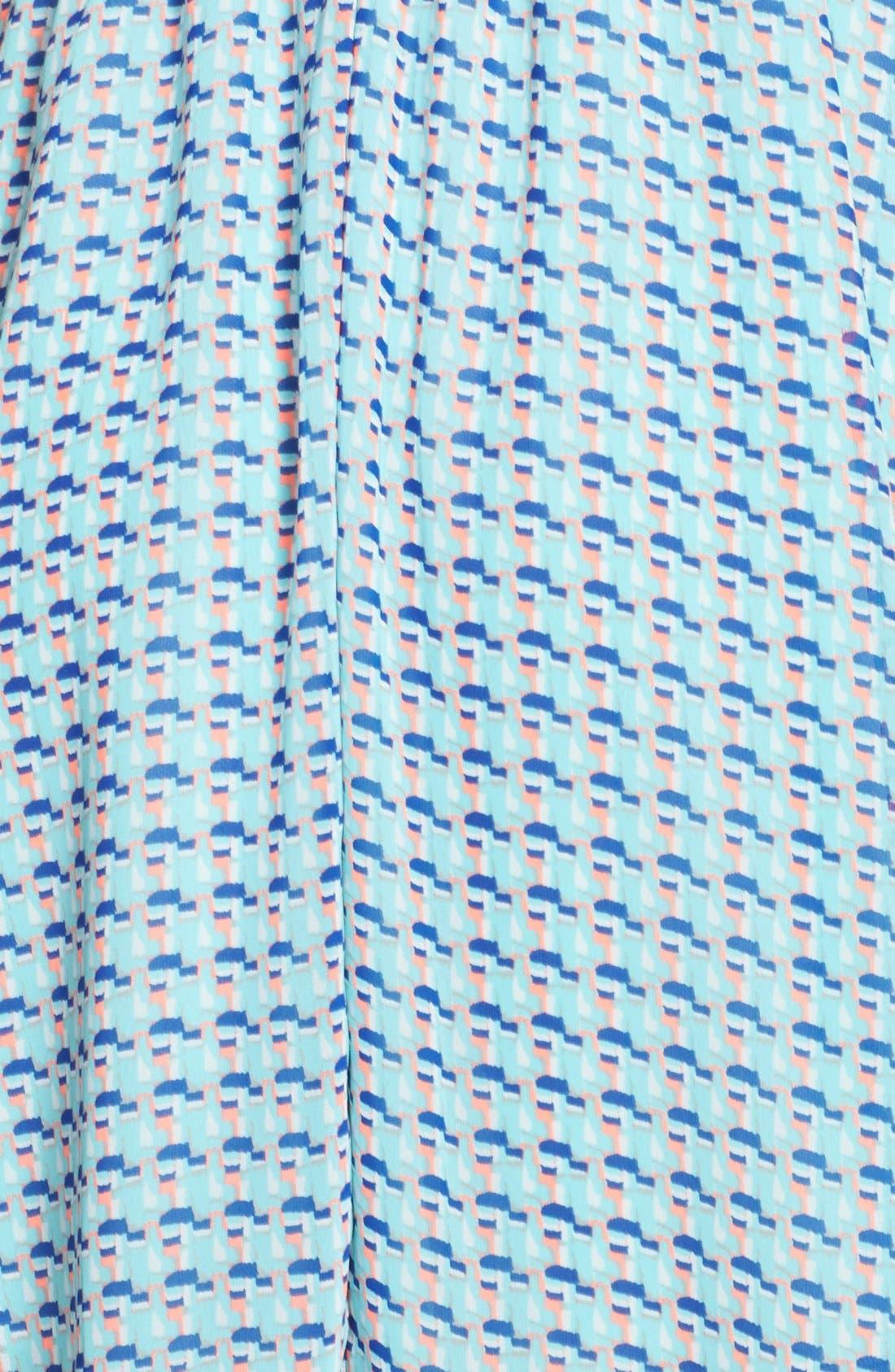 Blouson Chiffon Skater Dress,                             Alternate thumbnail 177, color,