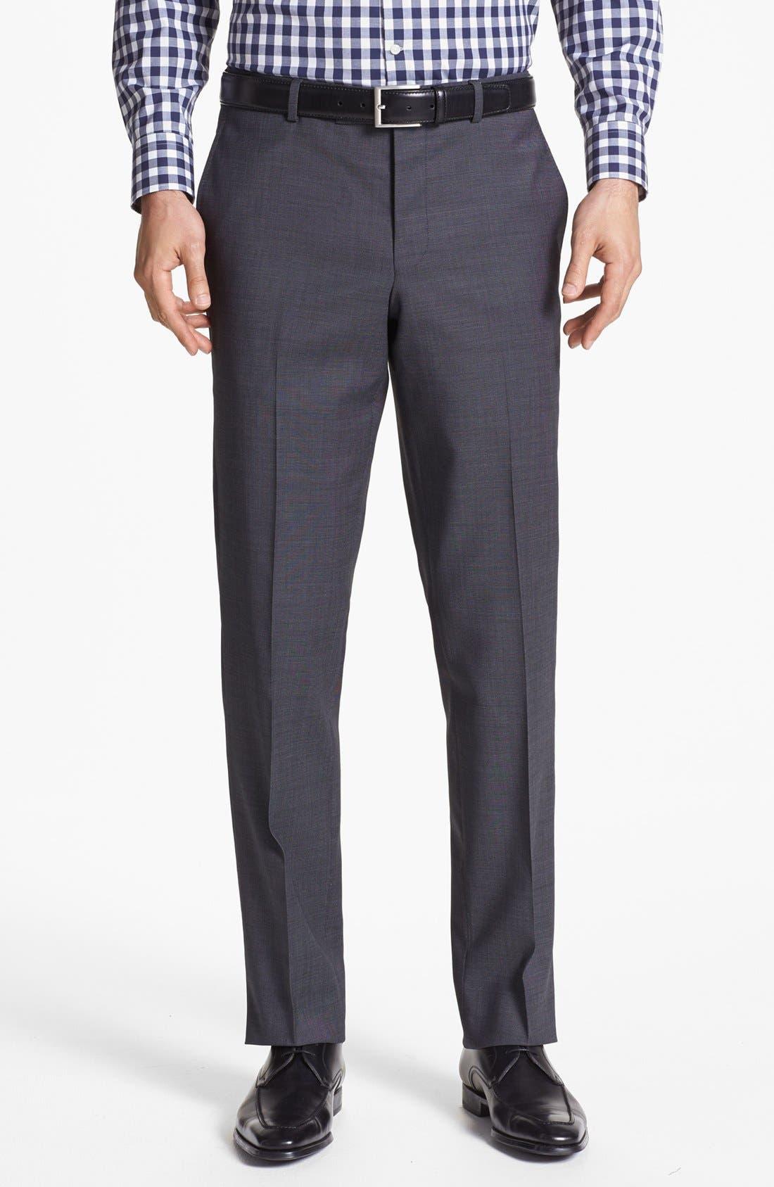 Jones Trim Fit Wool Suit,                             Alternate thumbnail 6, color,