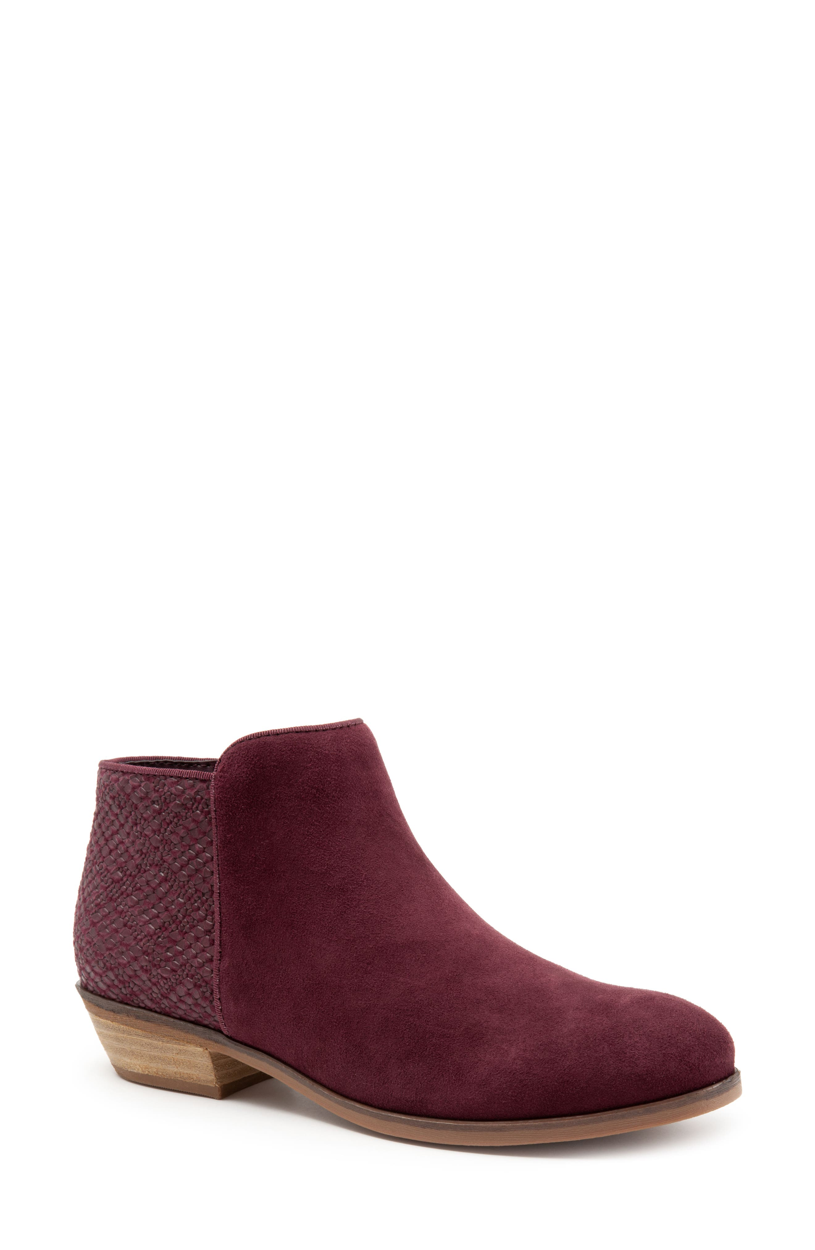 'Rocklin' Bootie,                             Alternate thumbnail 7, color,                             BURGUNDY LEATHER