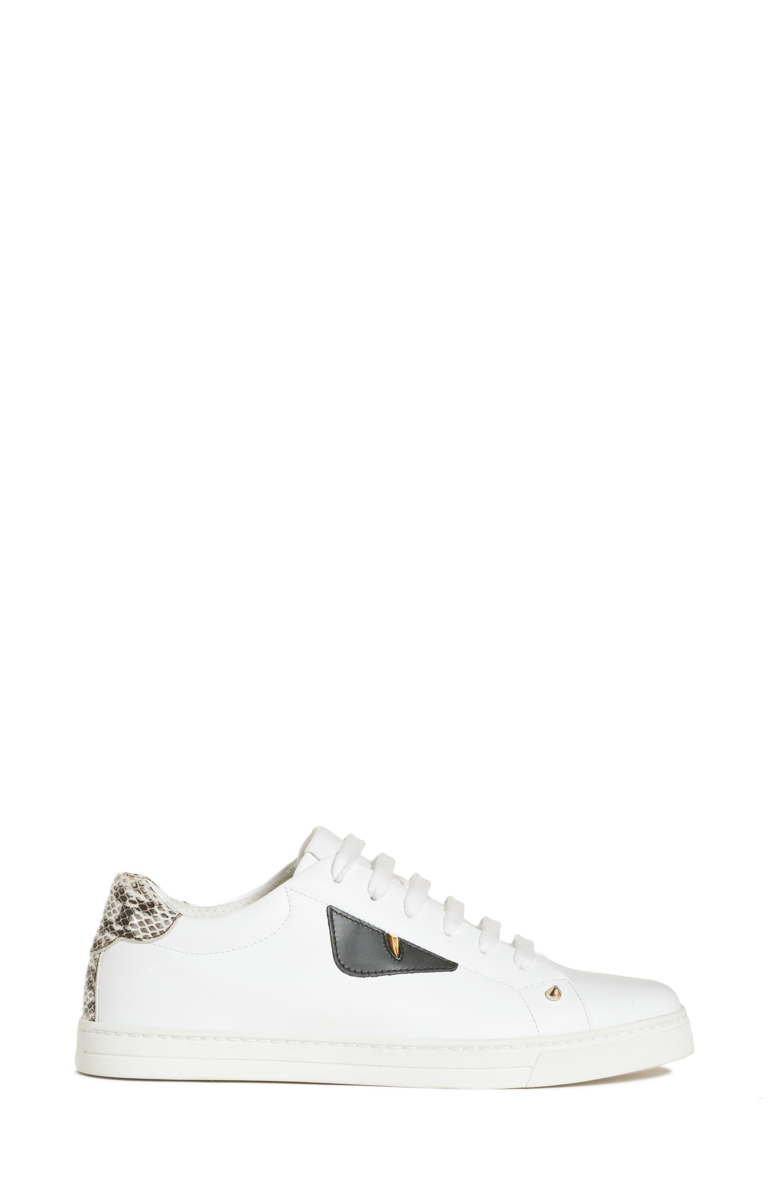 Bugs Sneaker,                             Alternate thumbnail 3, color,                             WHITE/ SNAKEPRINT