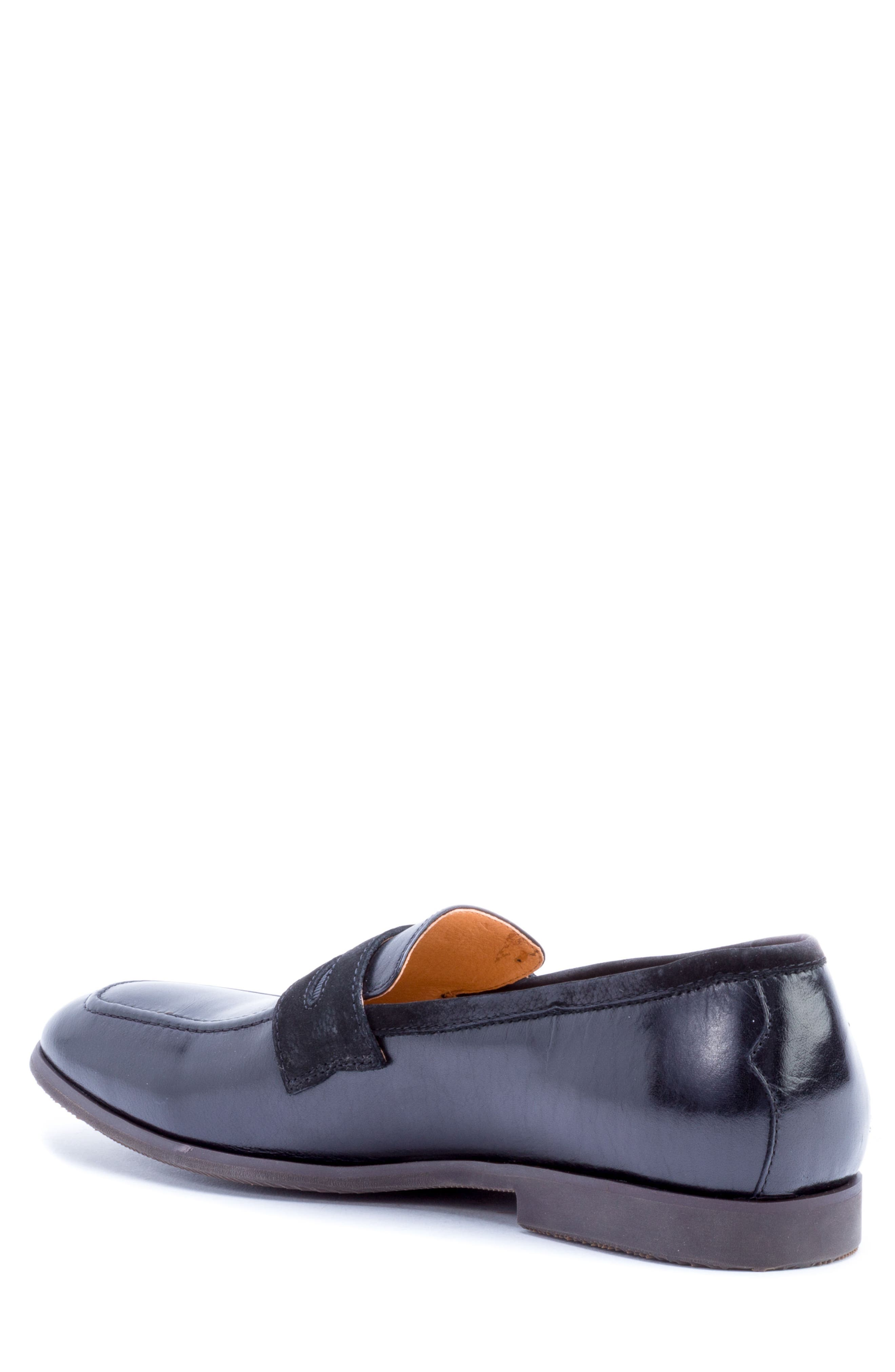 Apron Toe Penny Loafer,                             Alternate thumbnail 2, color,                             001