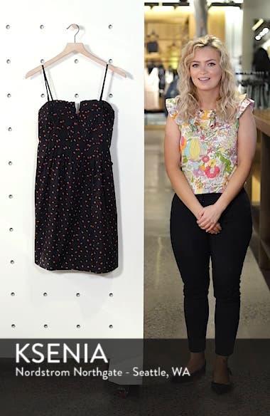 Strawberry Print Pintuck Ruffle Dress, sales video thumbnail