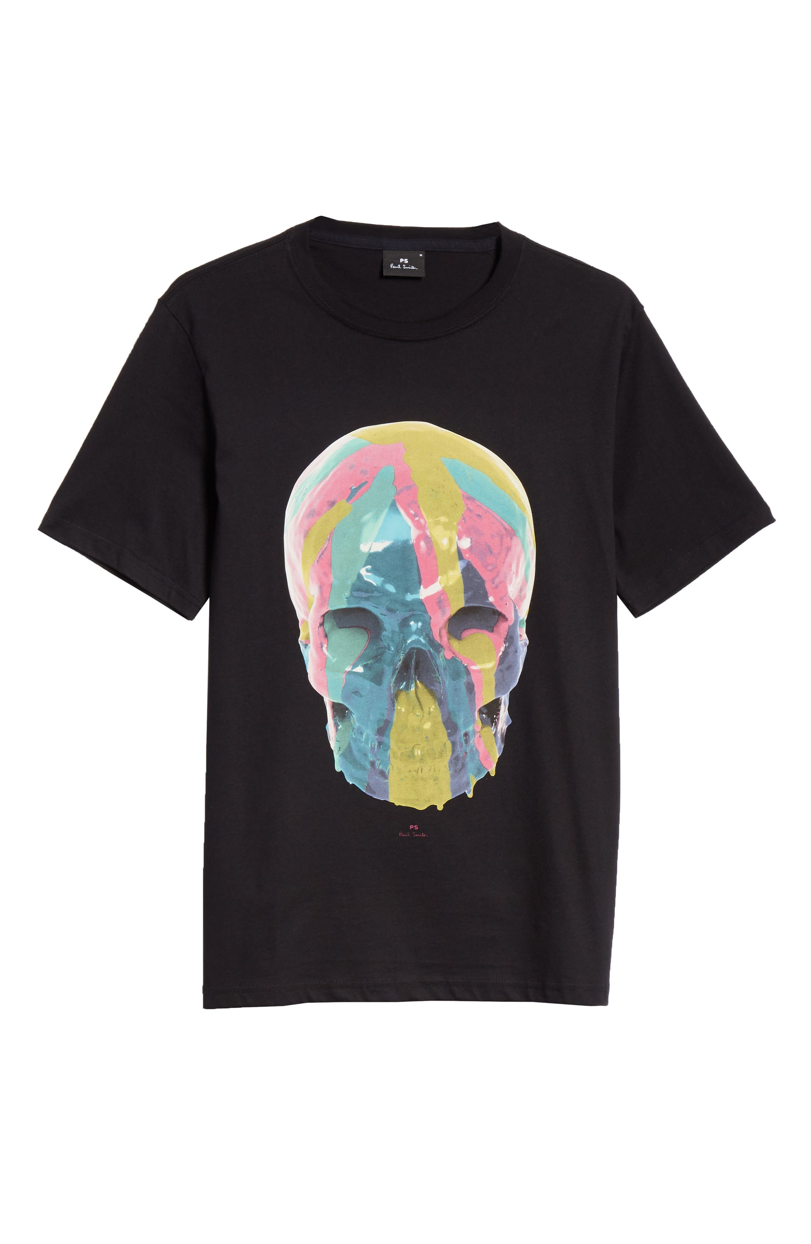 Skull Graphic T-Shirt,                             Alternate thumbnail 6, color,                             BLACK