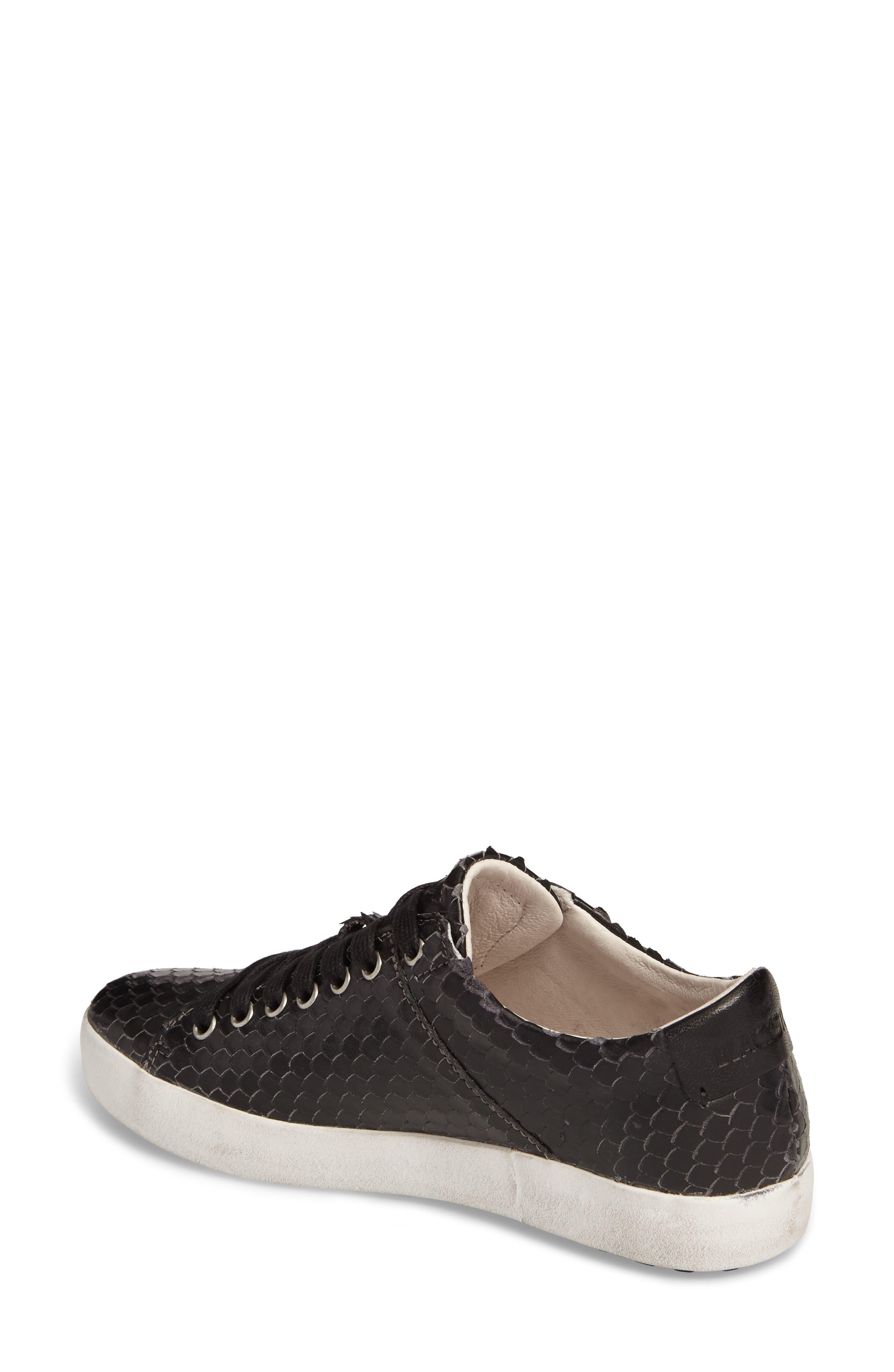 OL25 Sneaker,                             Alternate thumbnail 2, color,                             BLACK LEATHER