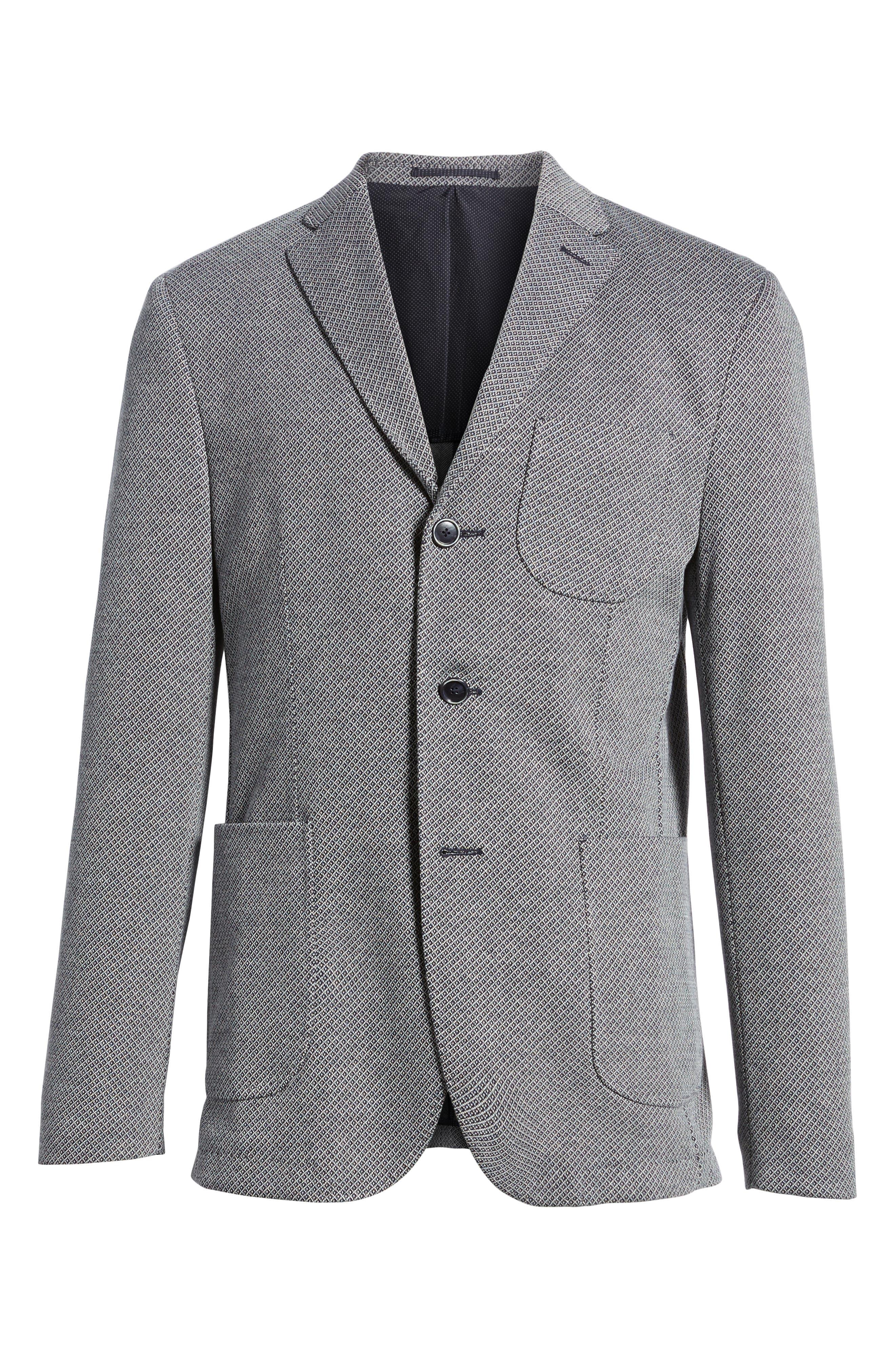 Trim Fit Cotton Blend Blazer,                             Alternate thumbnail 5, color,                             410