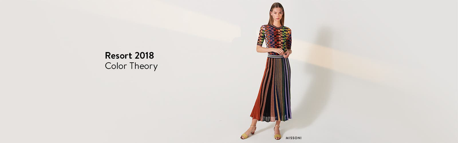 Designer resort 2018 collections to explore now: Missoni knit top and skirt.
