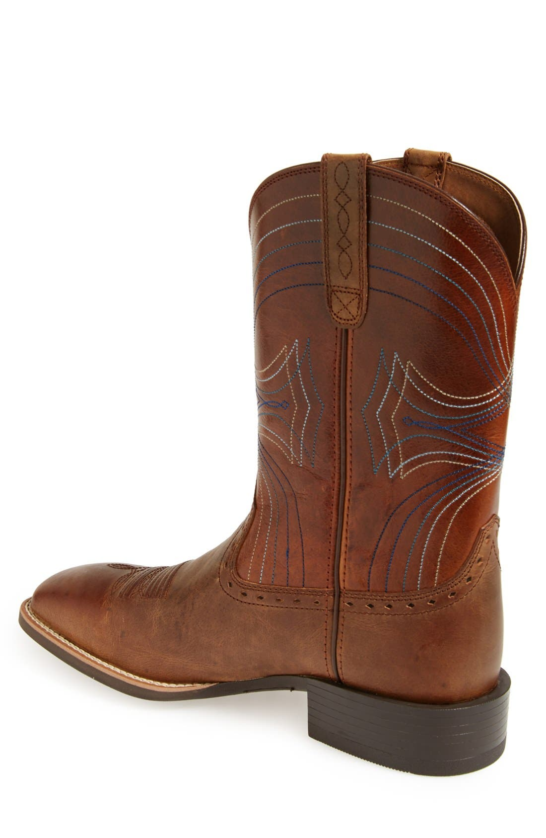 'Sport' Leather Cowboy Boot,                             Alternate thumbnail 3, color,                             BROWN