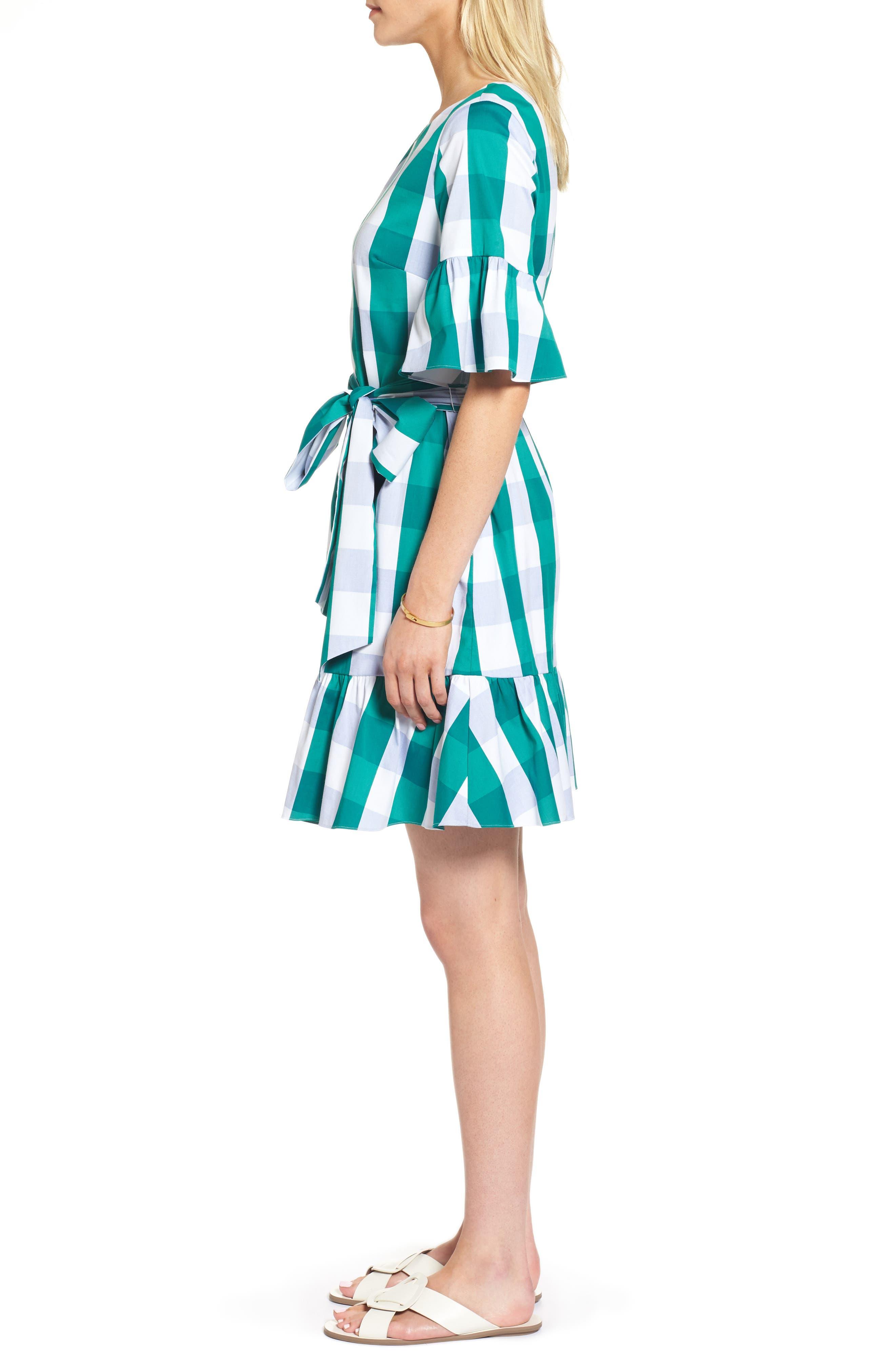 Ruffle & Bow Dress,                             Alternate thumbnail 7, color,
