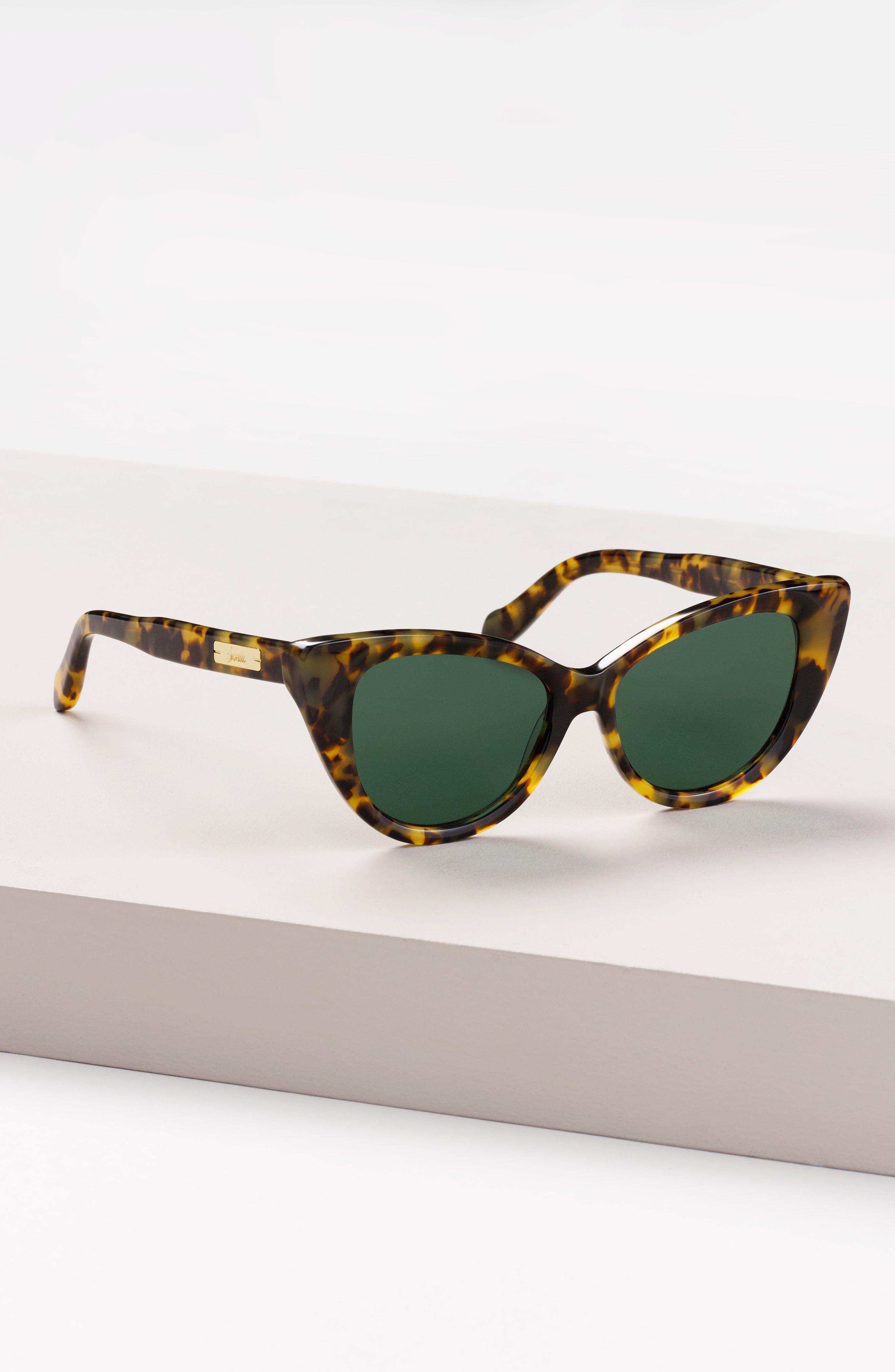 SONIX,                             Kyoto 51mm Cat Eye Sunglasses,                             Alternate thumbnail 8, color,                             001