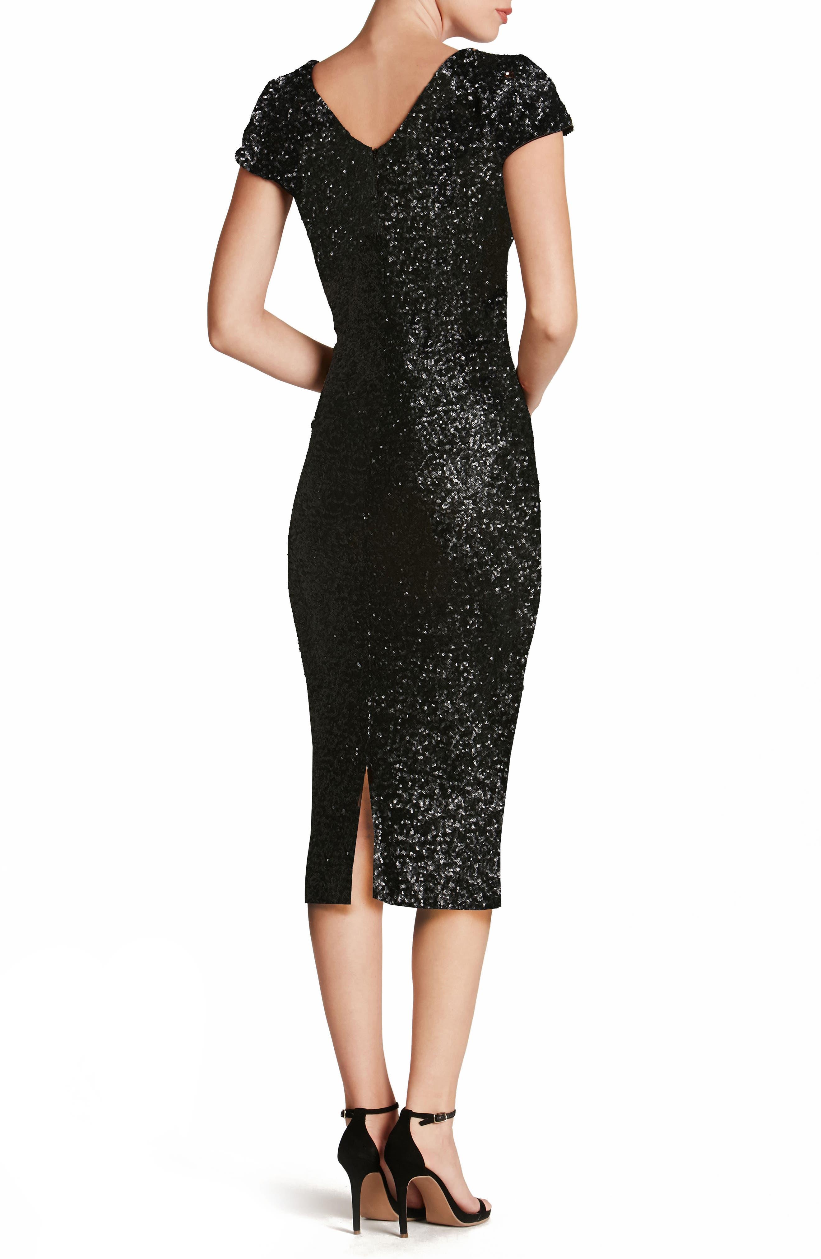 DRESS THE POPULATION,                             Allison Sequin Sheath Dress,                             Alternate thumbnail 2, color,                             008
