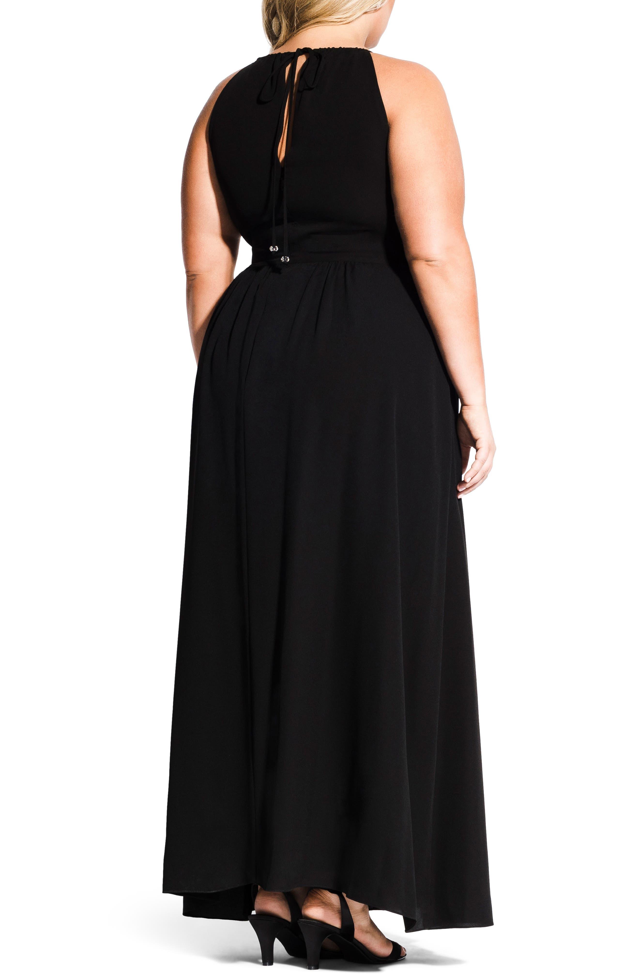 Devotion Maxi Dress,                             Alternate thumbnail 2, color,                             BLACK