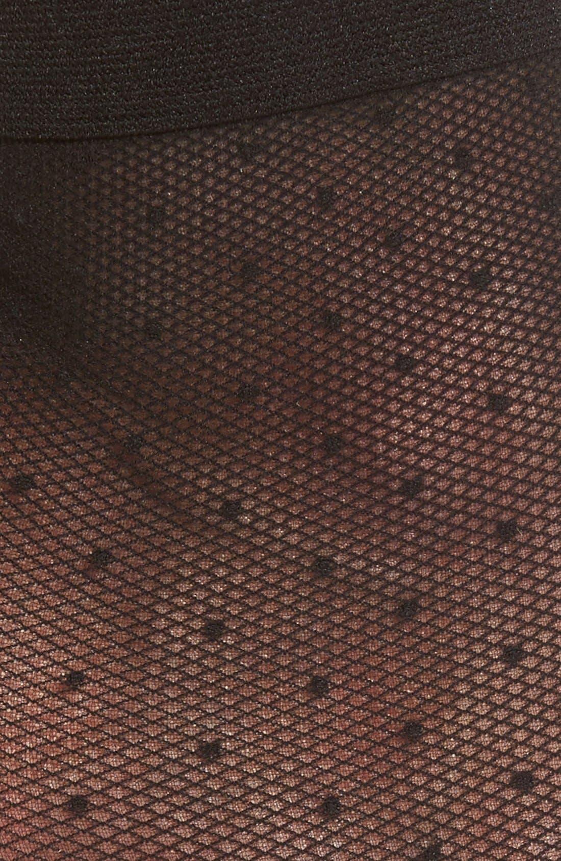 Sheer Dot Anklet Socks,                             Alternate thumbnail 2, color,                             001