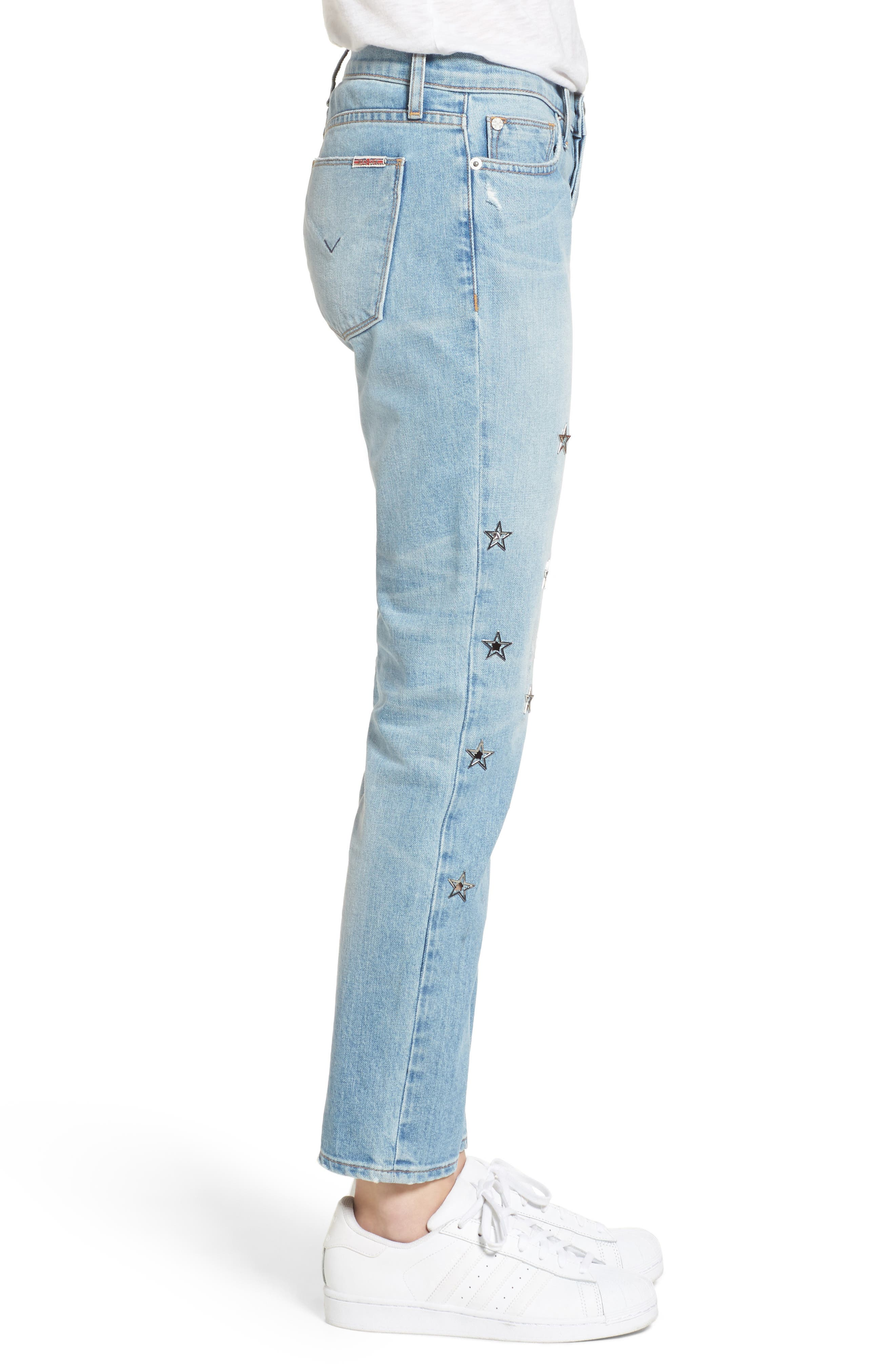 Riley Crop Relaxed Straight Leg Jeans,                             Alternate thumbnail 8, color,
