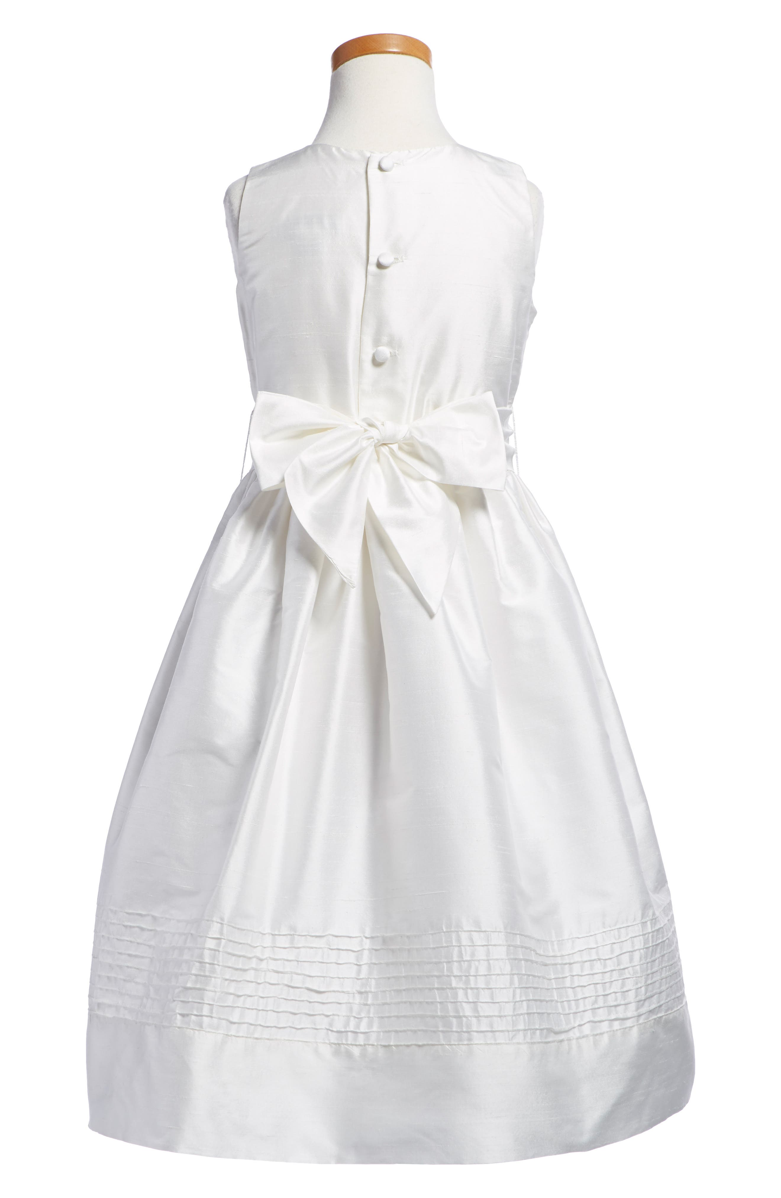Timeless Silk Dress,                             Alternate thumbnail 2, color,                             WHITE