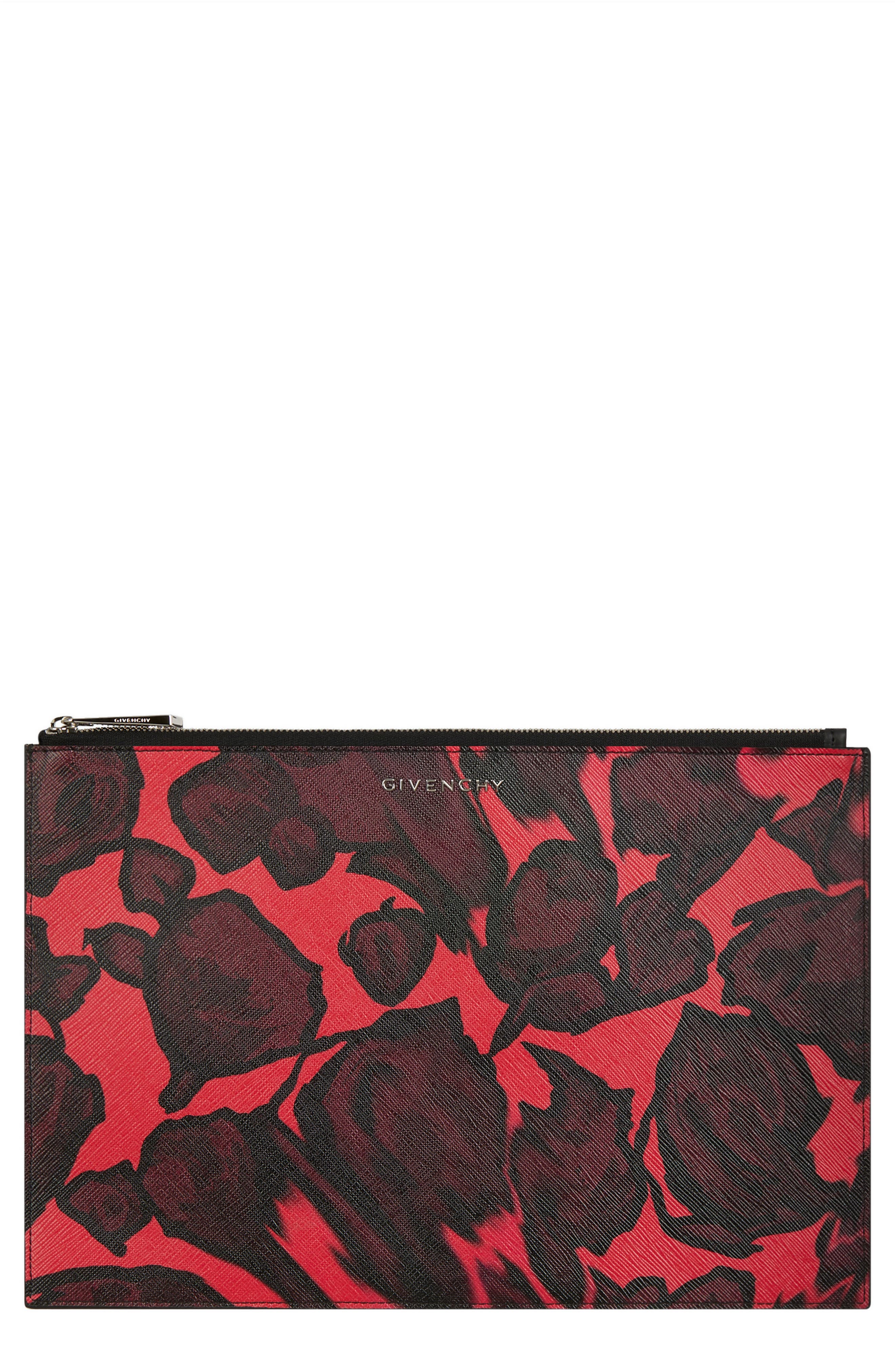 Iconic - Rose Print Pouch,                             Main thumbnail 1, color,                             600