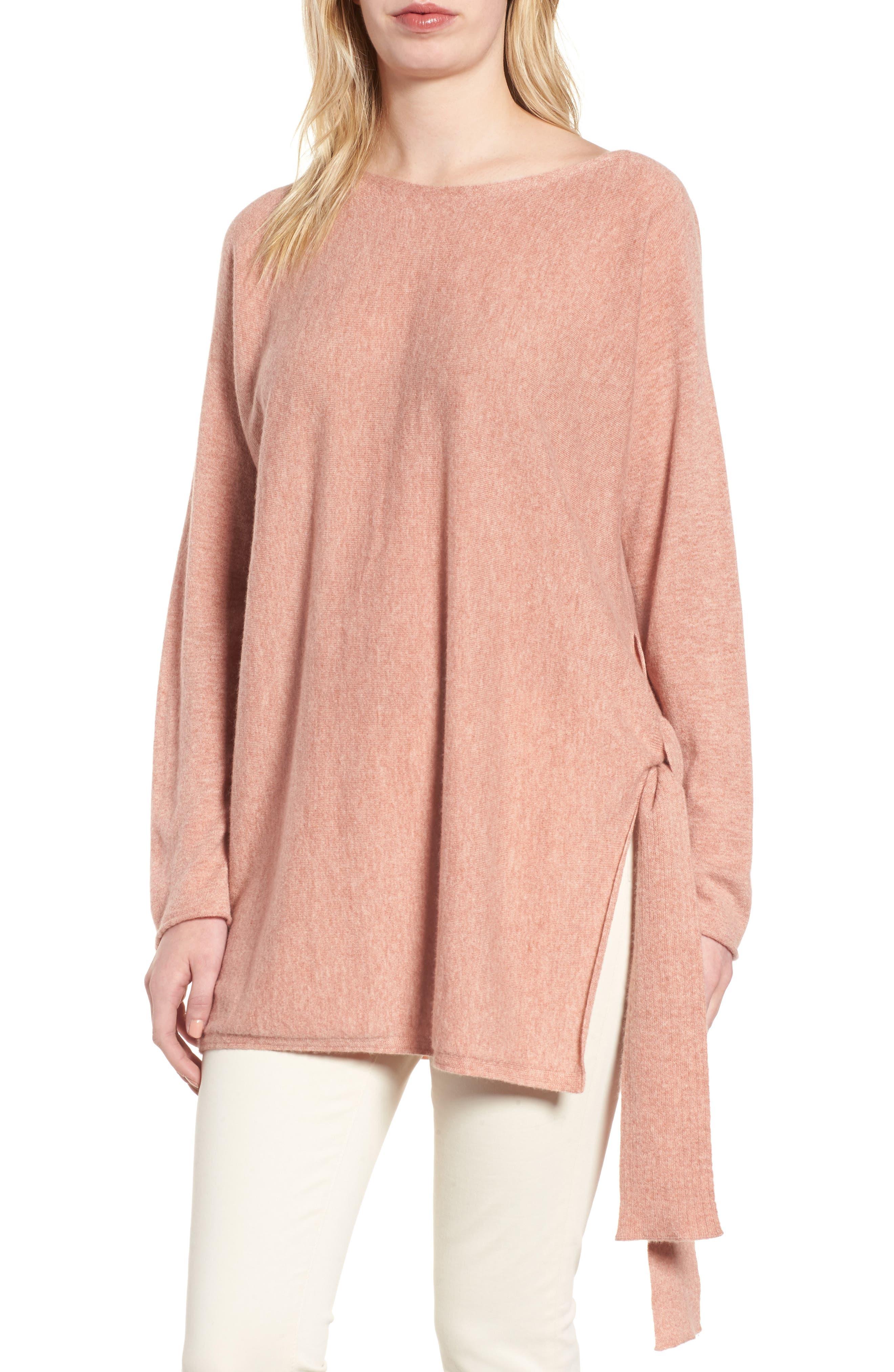 Cashmere Tunic Sweater,                             Main thumbnail 2, color,