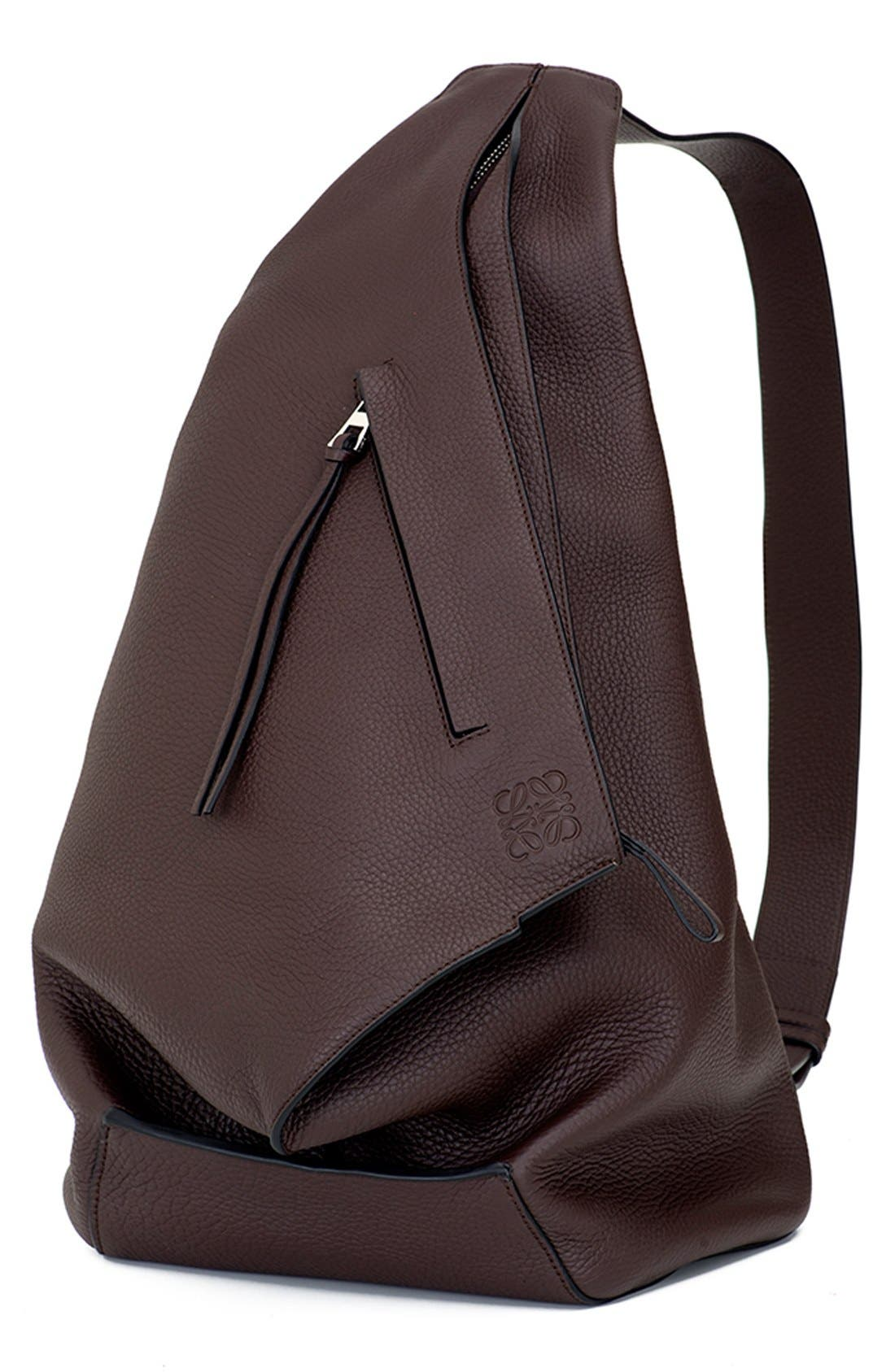 LOEWE 'Anton' Calfskin Leather Backpack, Main, color, 240
