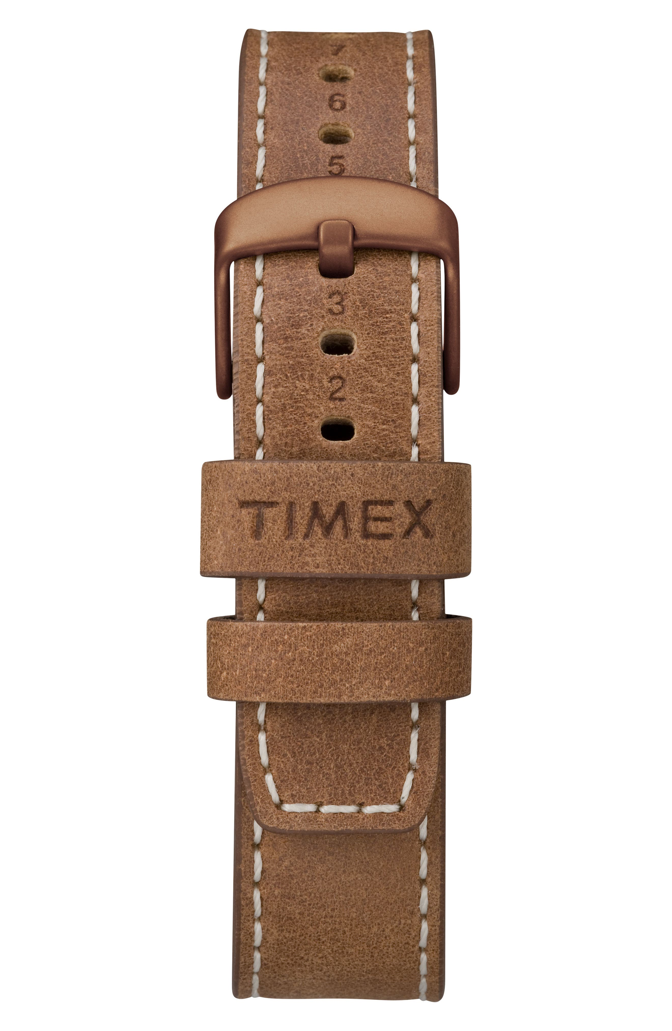 Allied Leather Strap Watch, 43mm,                             Alternate thumbnail 6, color,