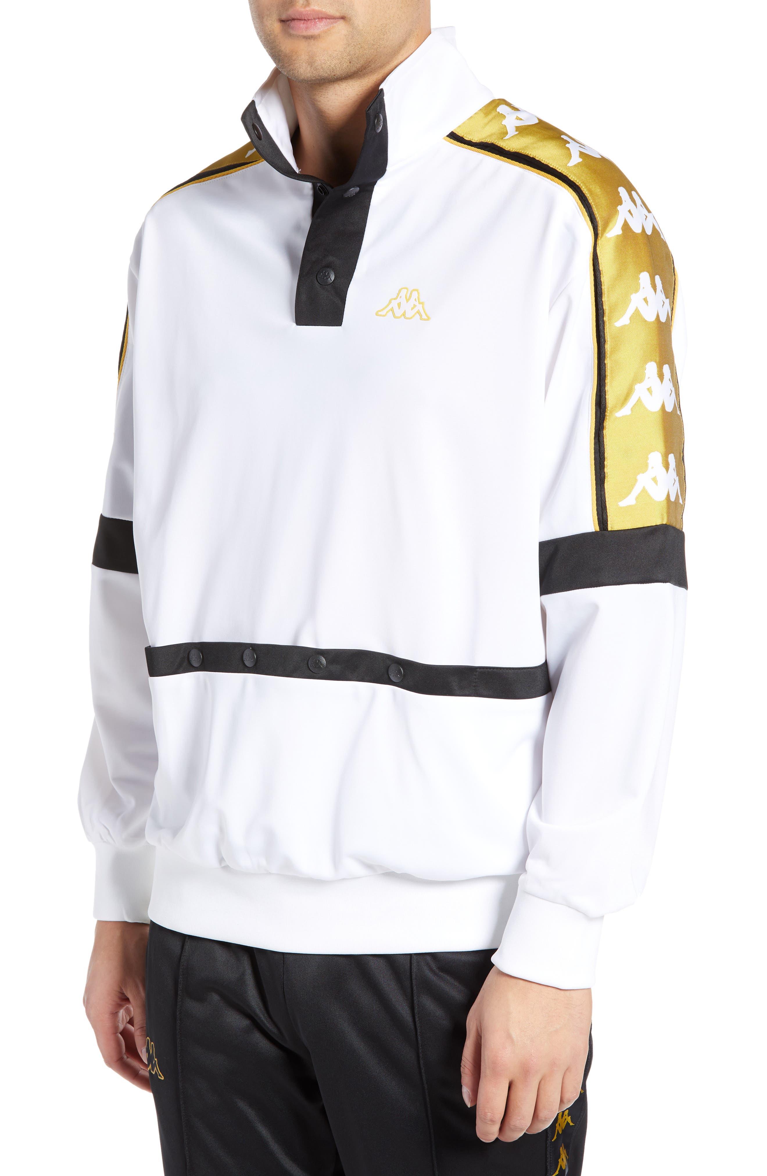 Banda 10 Artan Quarter Snap Pullover,                             Main thumbnail 1, color,                             WHITE YELLOW GOLD