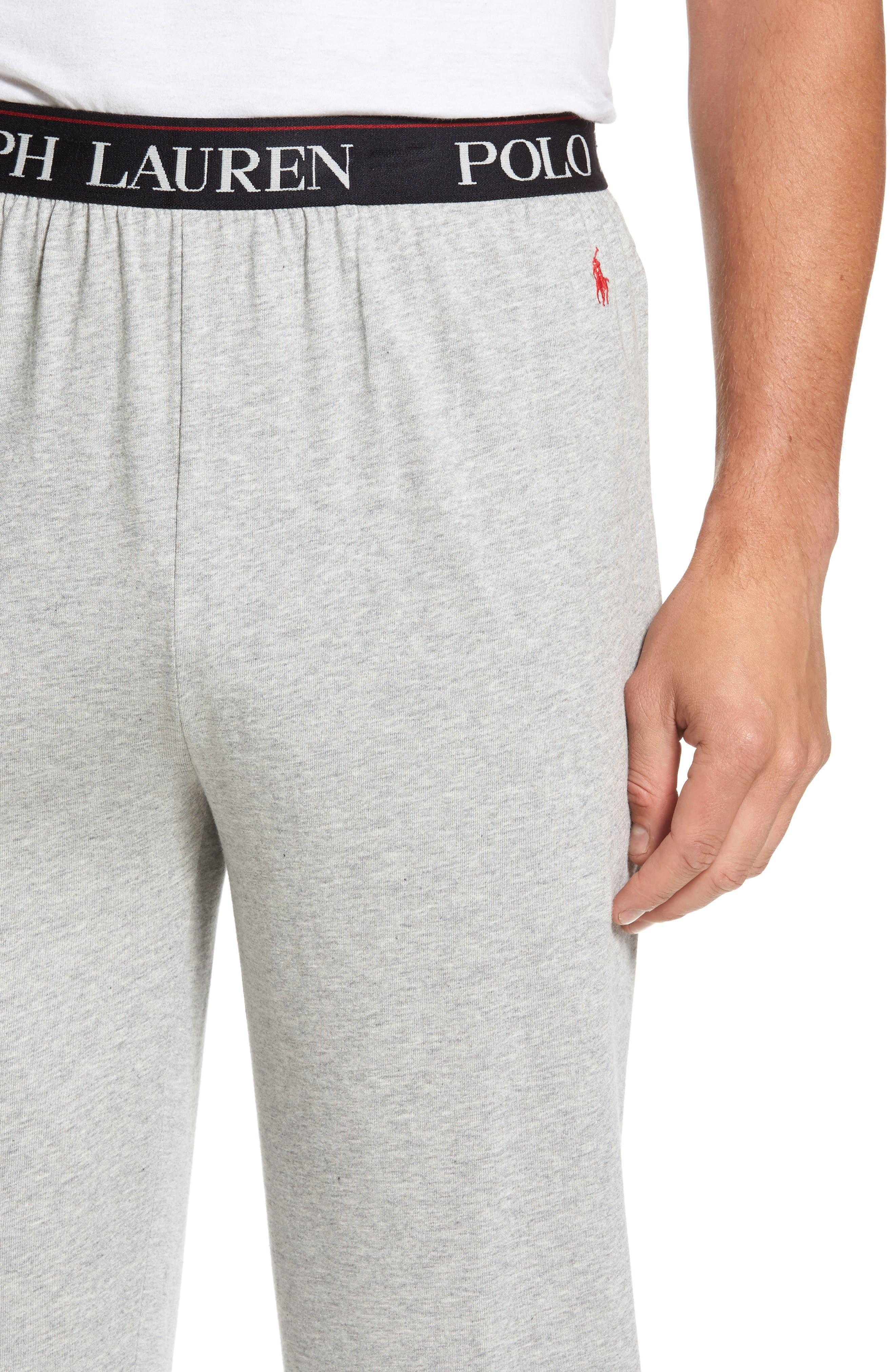 Cotton & Modal Lounge Pants,                             Alternate thumbnail 4, color,                             ANDOVER HEATHER GREY