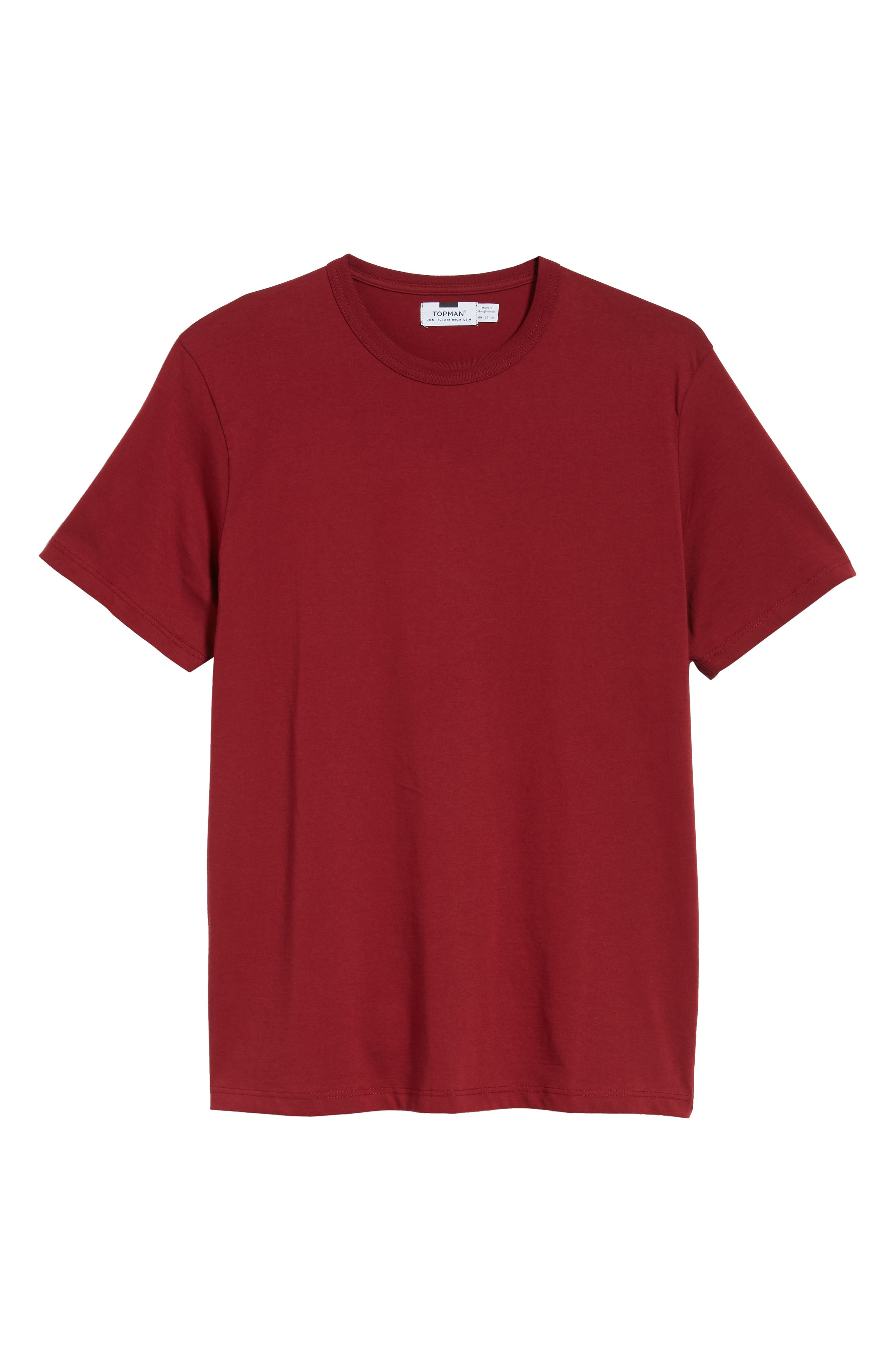 Bound Classic Crew T-Shirt,                             Alternate thumbnail 6, color,                             RED