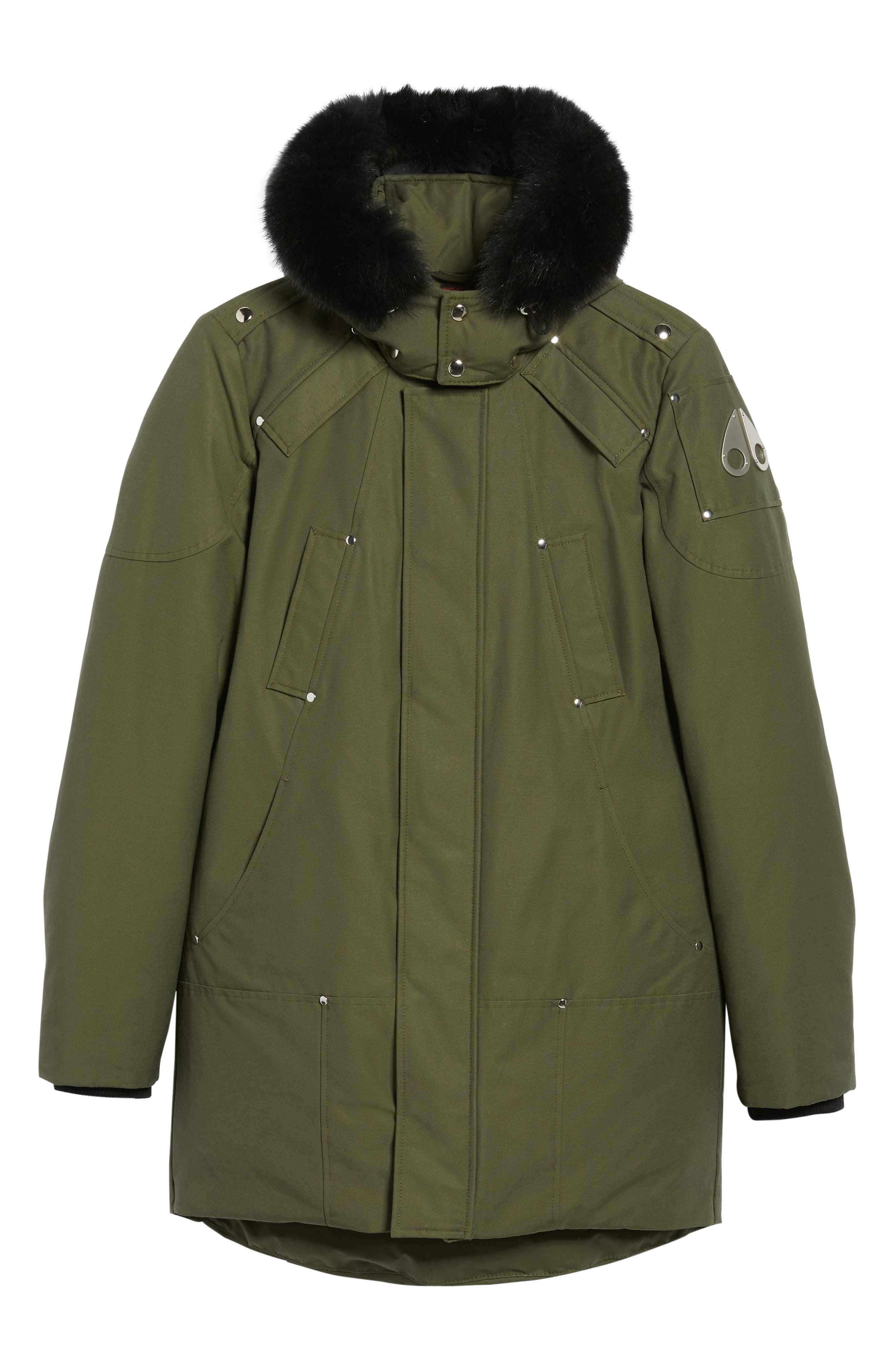 Stirling Water Repellent Down Parka with Genuine Fox Fur Trim,                             Alternate thumbnail 21, color,