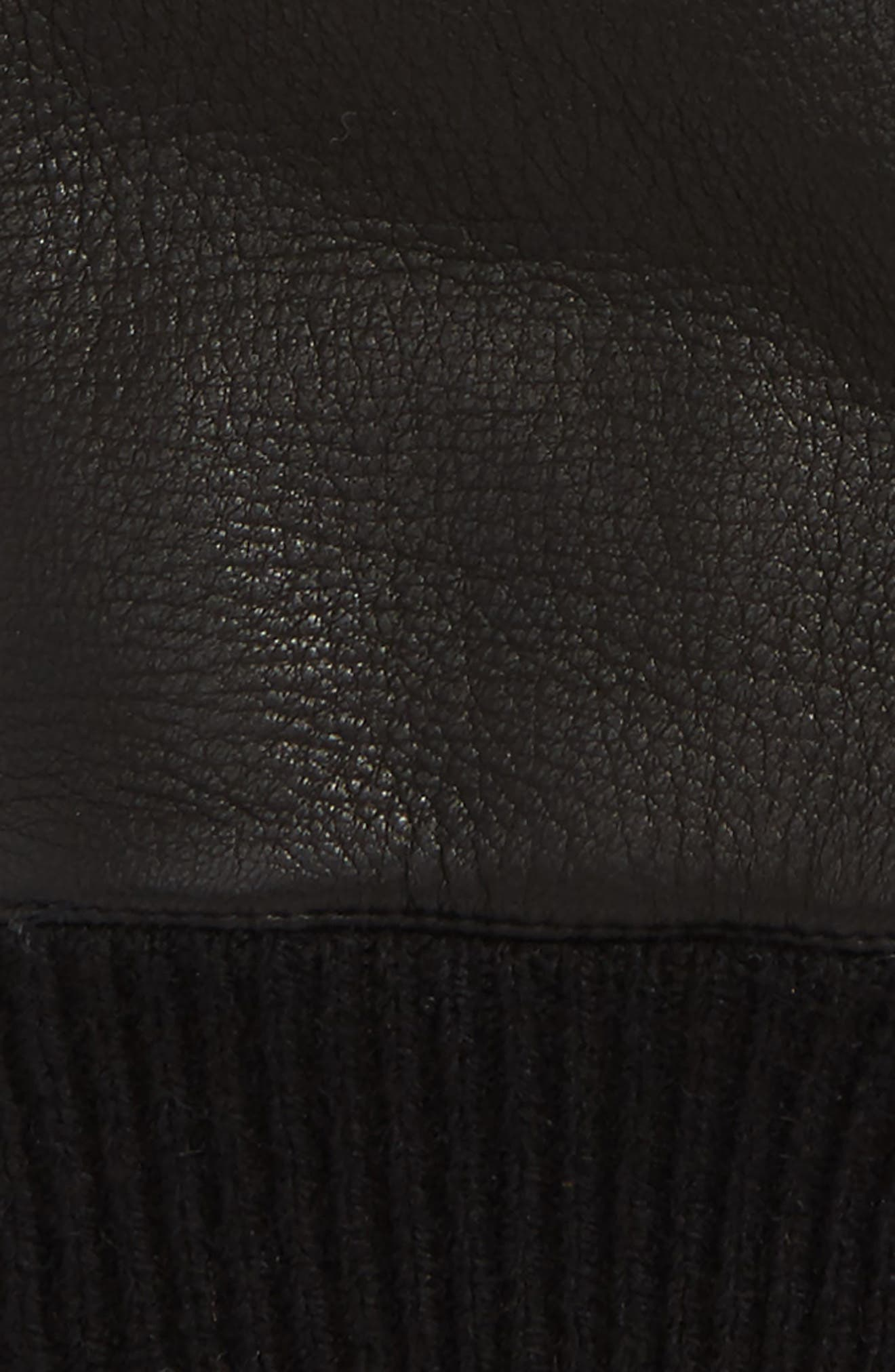 Smart Genuine Shearling Leather Gloves,                             Alternate thumbnail 3, color,                             001