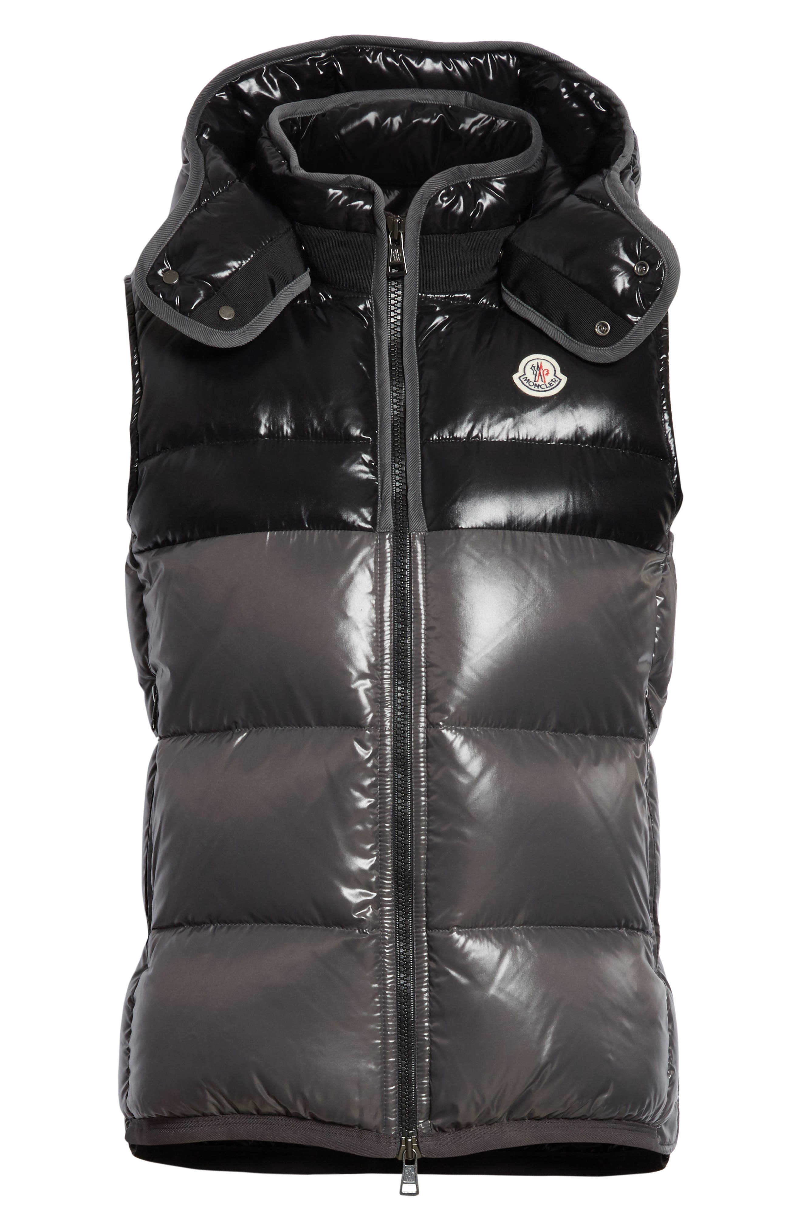 Balmat Quilted Down Vest with Detachable Hood,                             Alternate thumbnail 5, color,                             001
