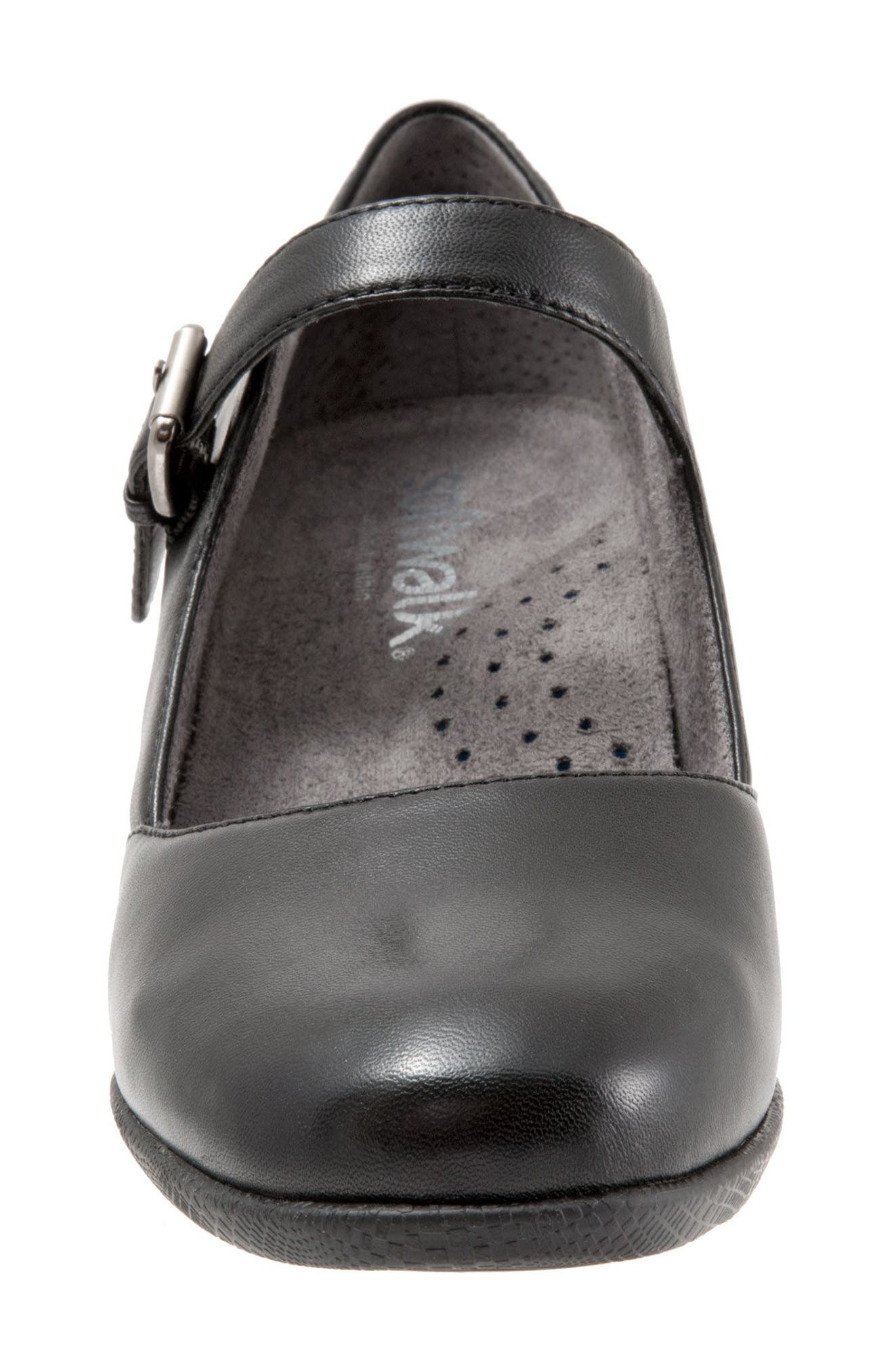 Irish II Pump,                             Alternate thumbnail 4, color,                             BLACK LEATHER