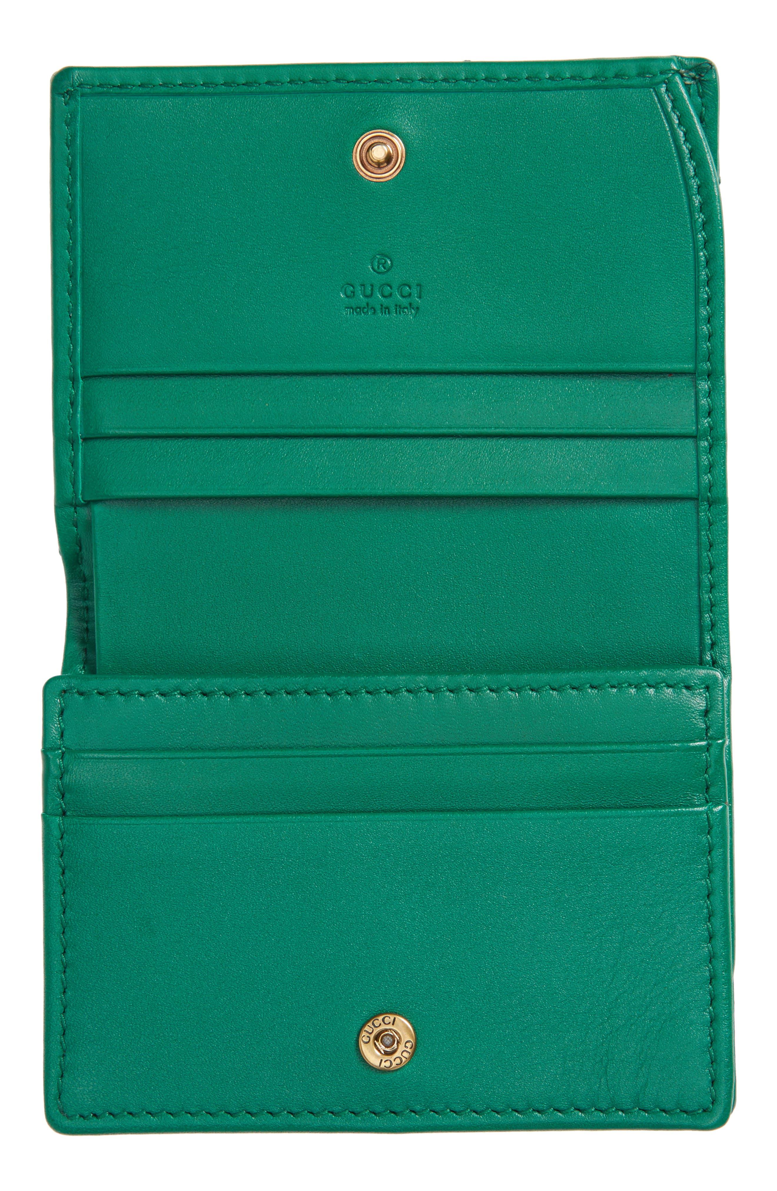 GG Marmont Matelassé Leather Card Case,                             Alternate thumbnail 2, color,                             302