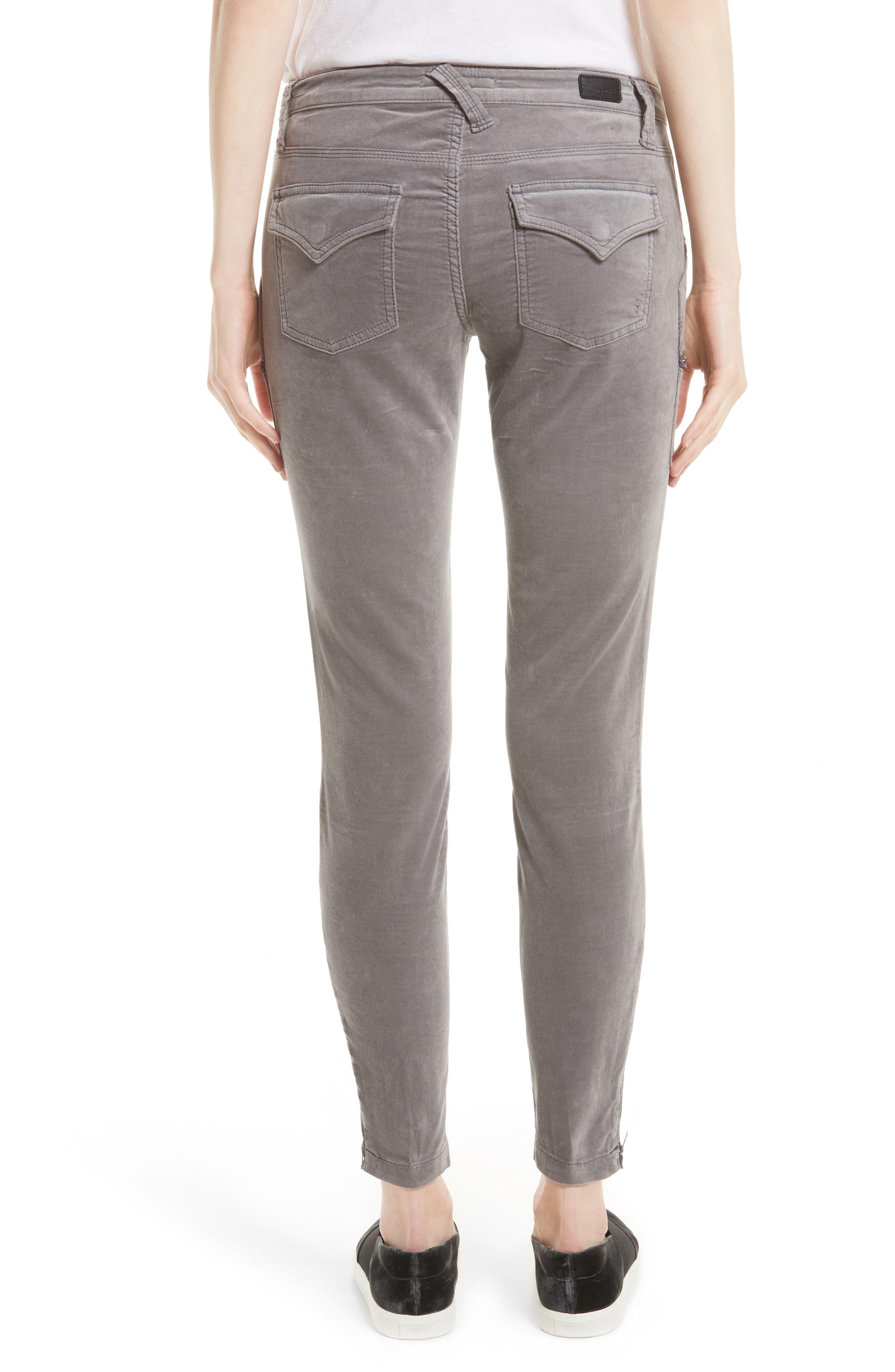 Park Stretch Cotton Skinny Pants,                             Alternate thumbnail 4, color,