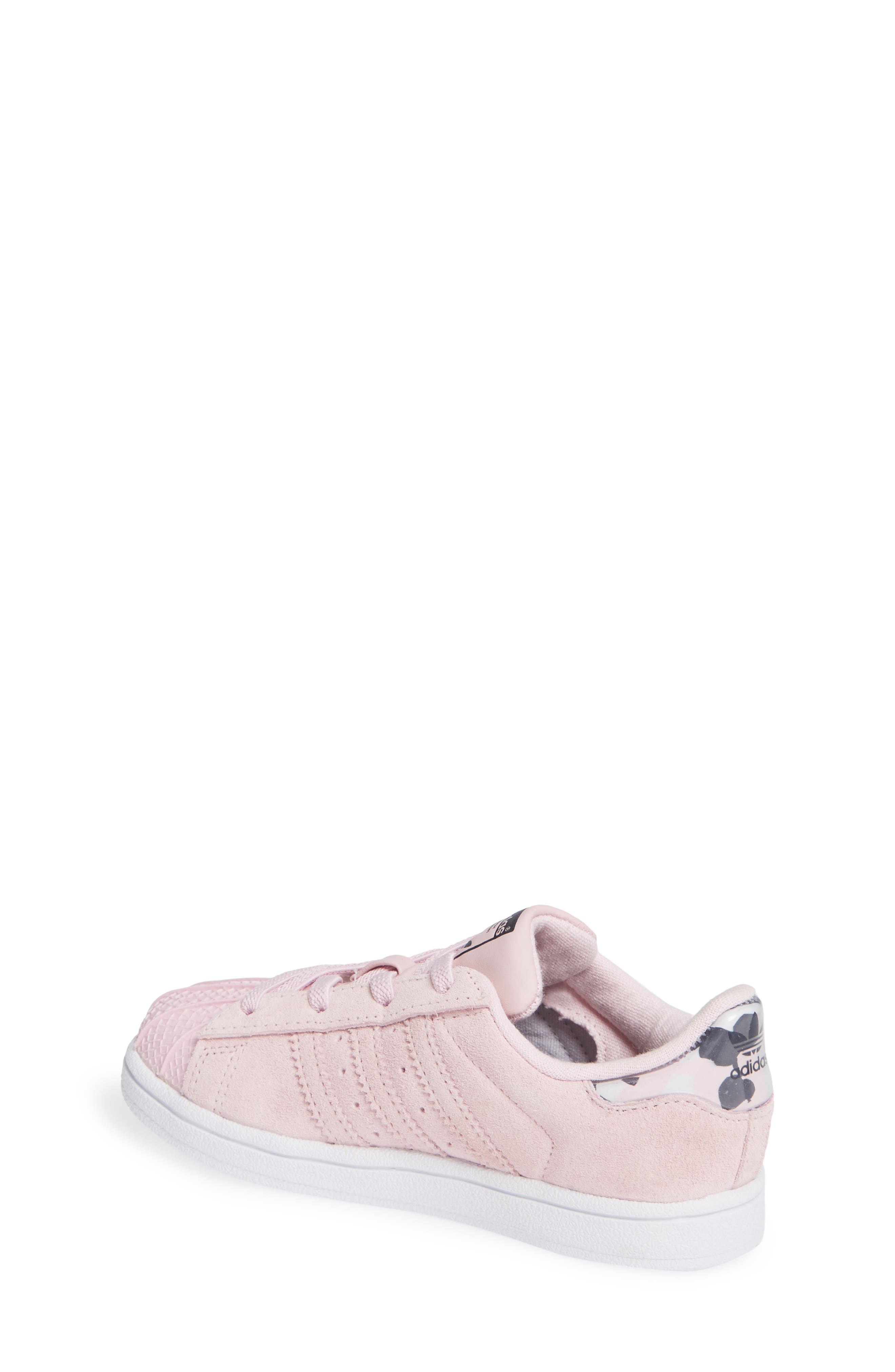 Superstar Low Top Sneaker,                             Alternate thumbnail 2, color,                             CLEAR PINK/ WHITE