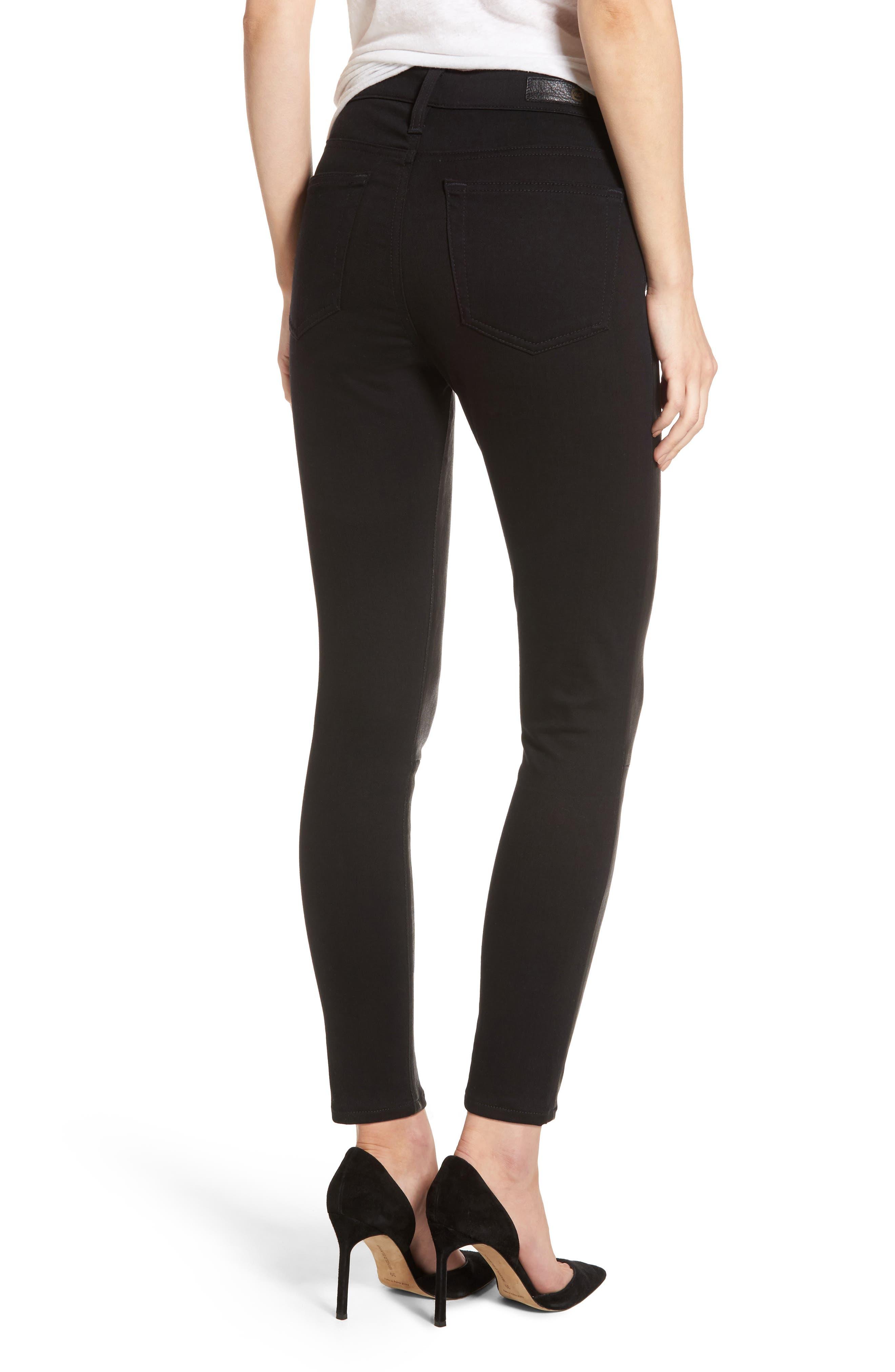 The Farrah High Waist Ankle Skinny Faux Leather Pants,                             Alternate thumbnail 6, color,
