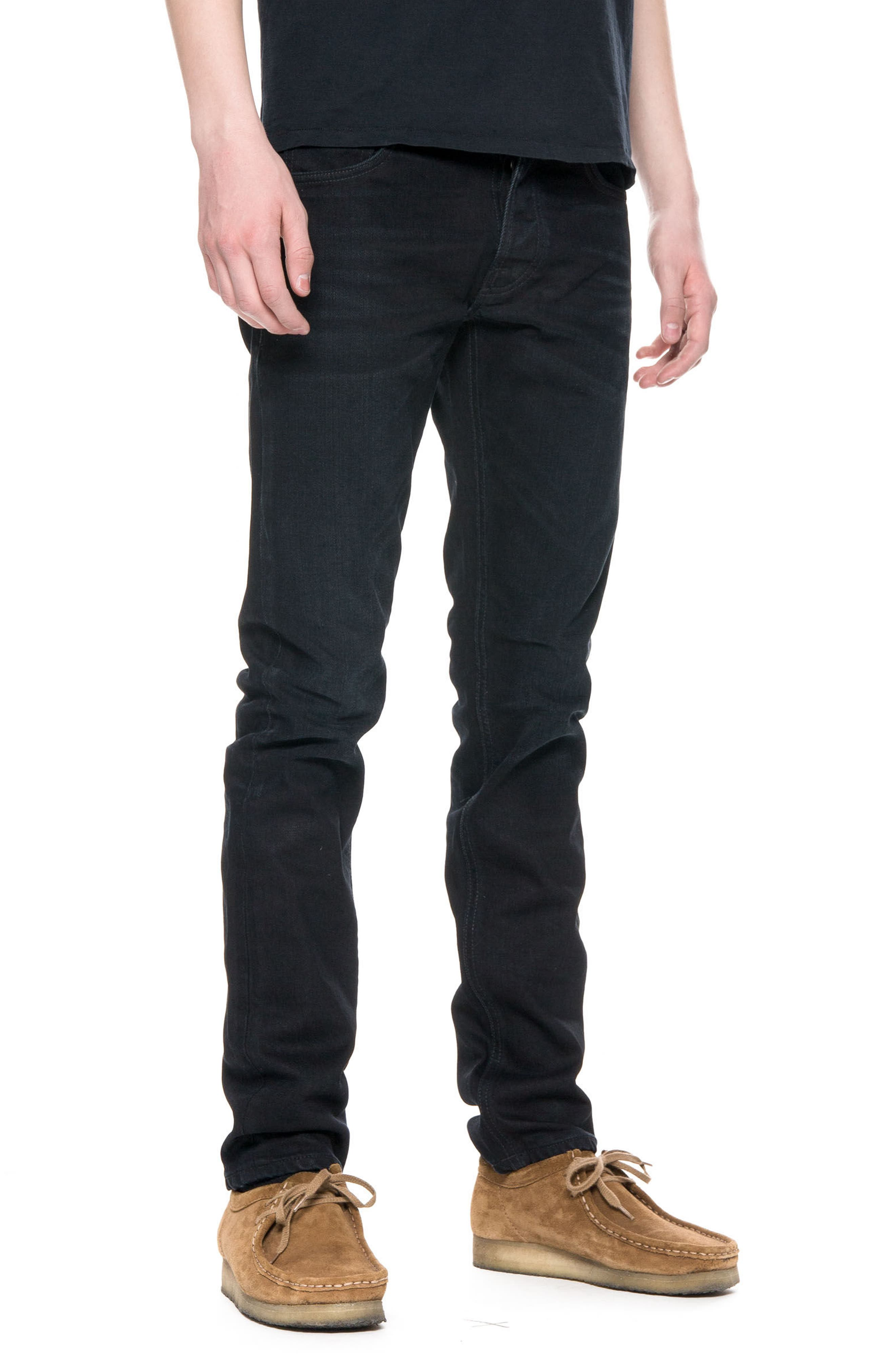 Lean Dean Slouchy Slim Fit Jeans,                             Alternate thumbnail 4, color,                             001
