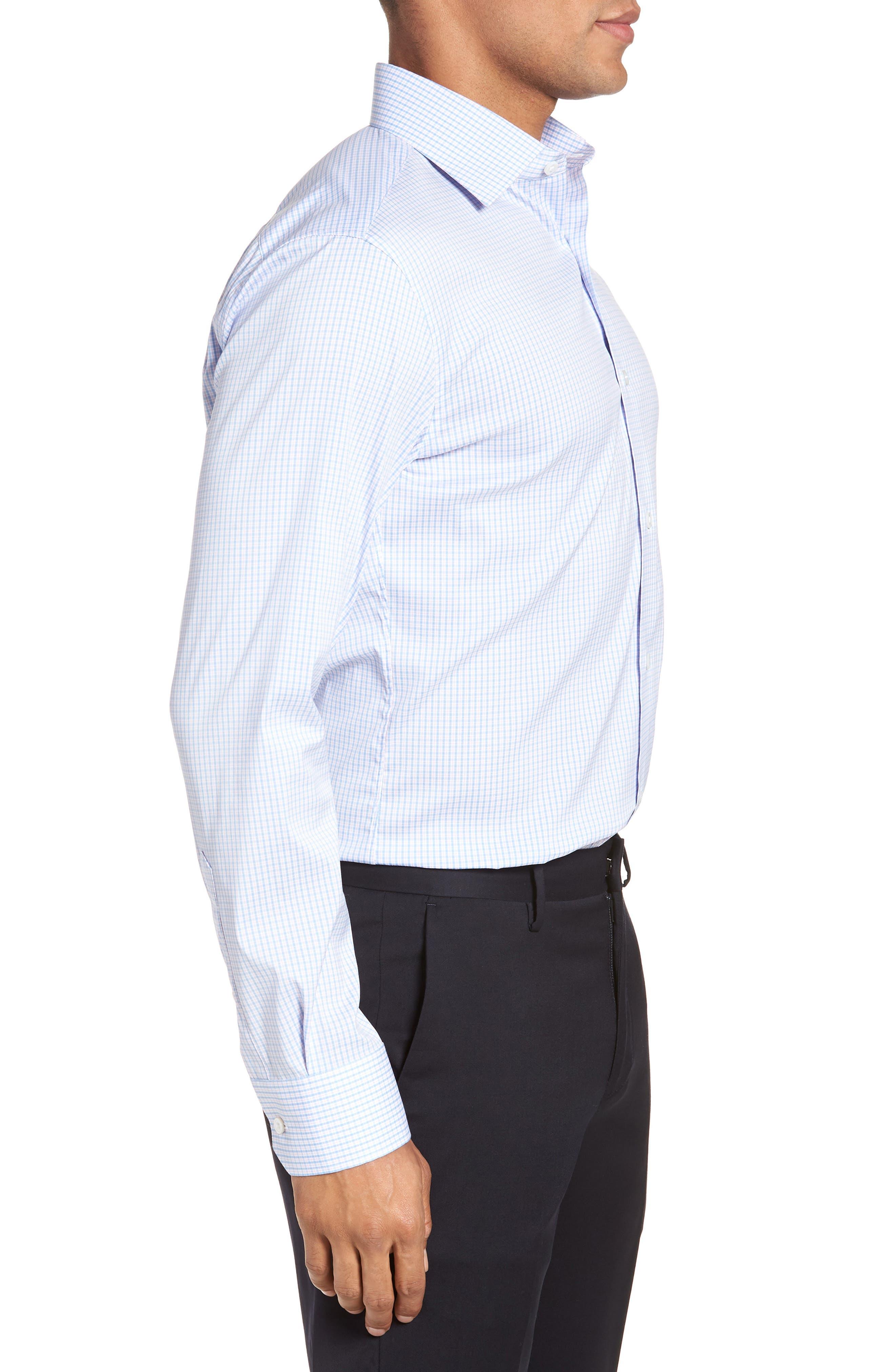 Soundview Slim Fit Stretch Check Dress Shirt,                             Alternate thumbnail 4, color,                             400