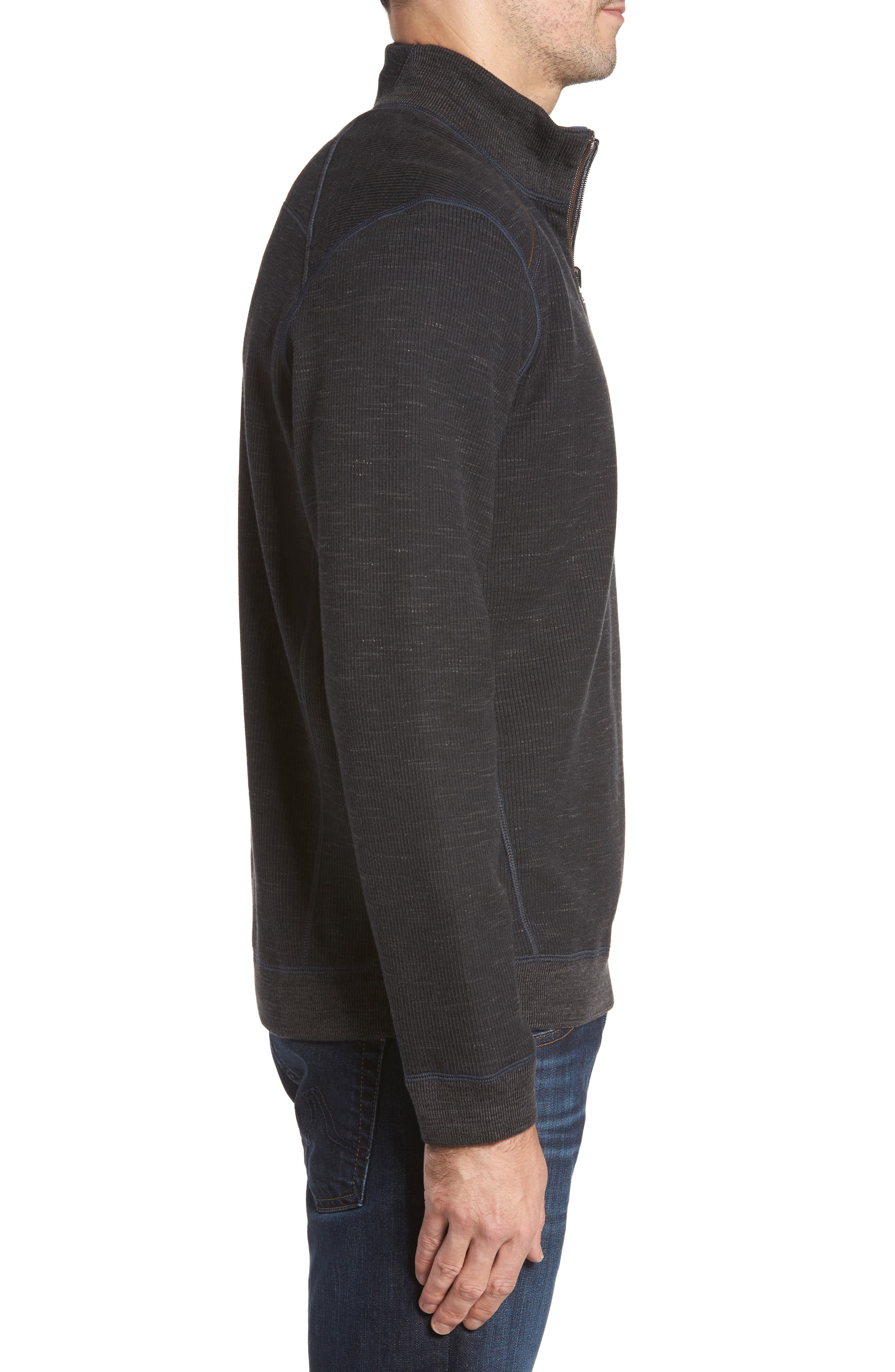 Flipsider Half Zip Reversible Sweatshirt,                             Alternate thumbnail 3, color,                             003