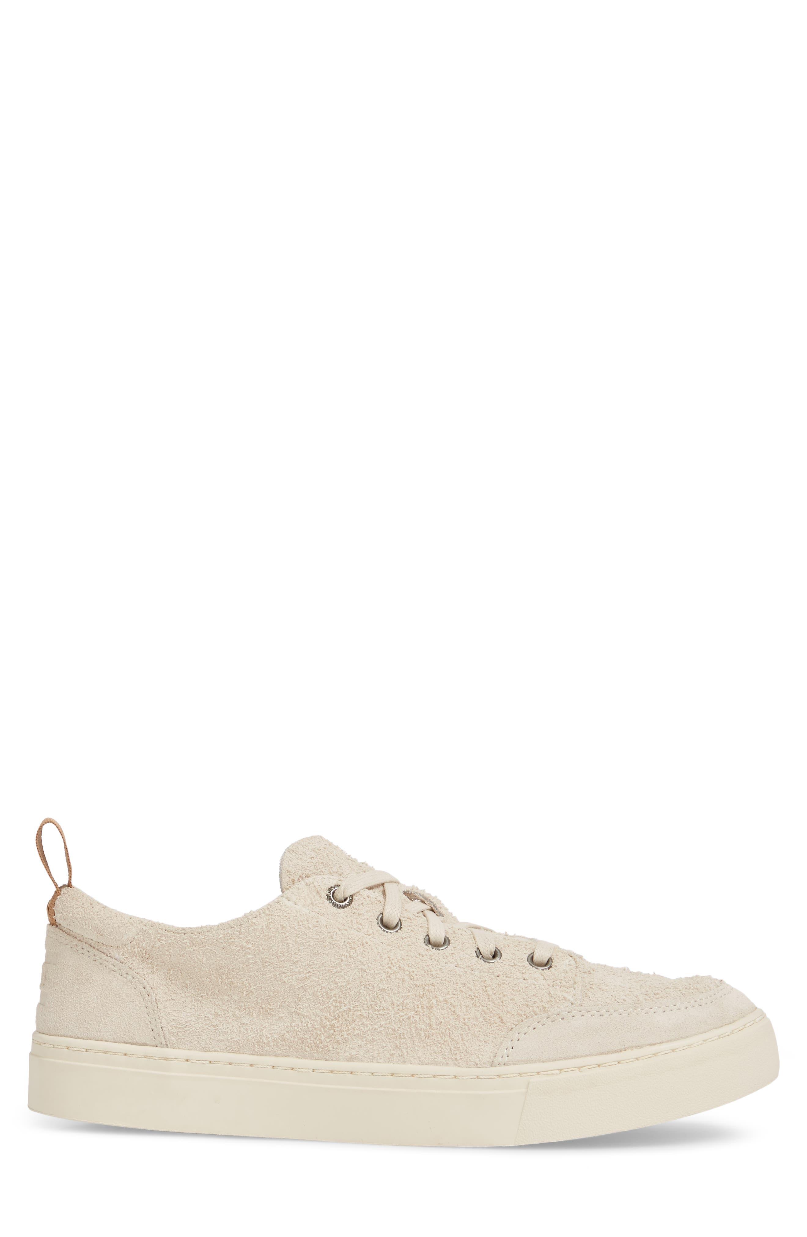 Landen Sneaker,                             Alternate thumbnail 3, color,                             BIRCH SHAGGY SUEDE