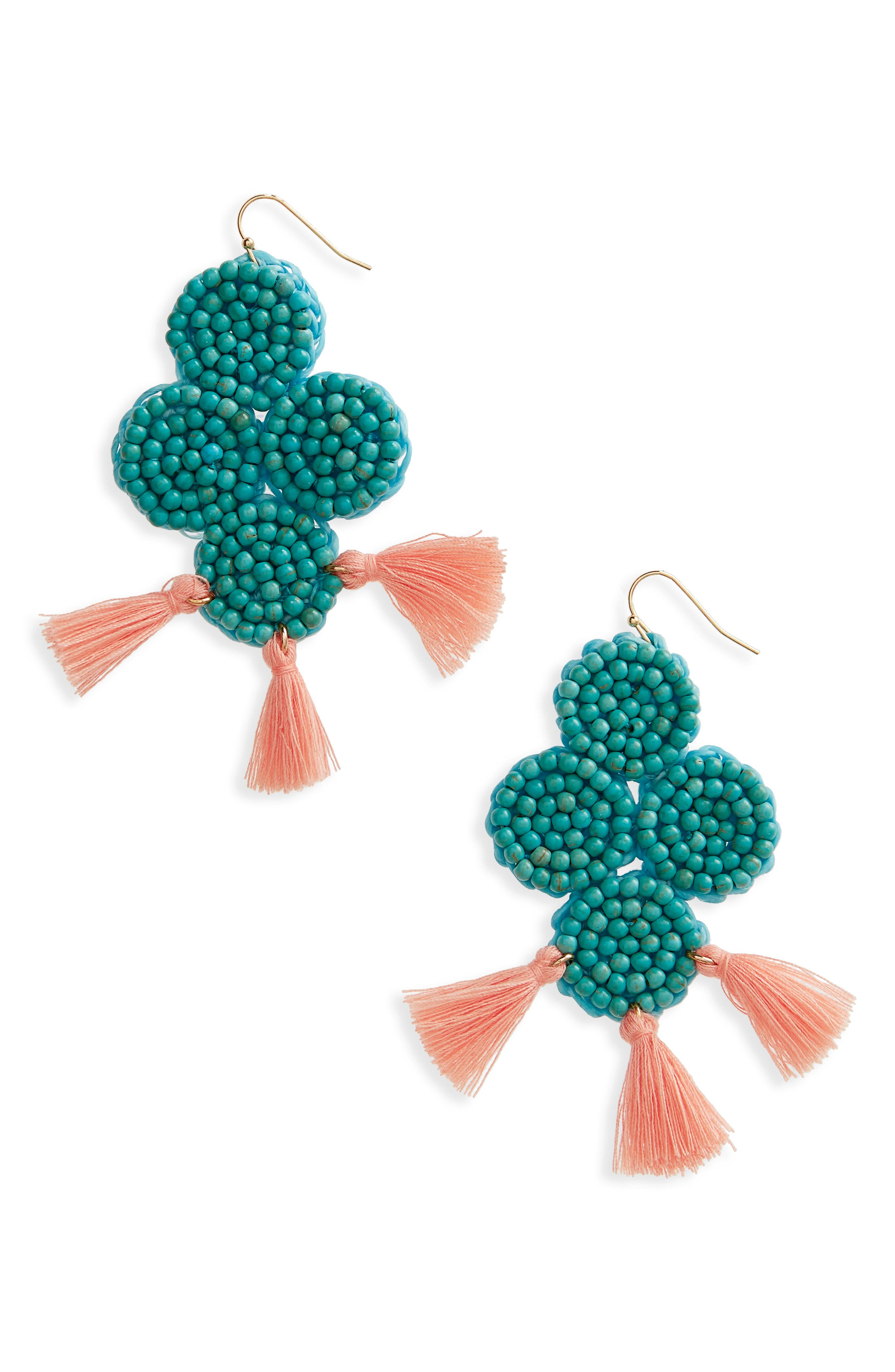 Beaded Statement Earrings,                         Main,                         color, 400