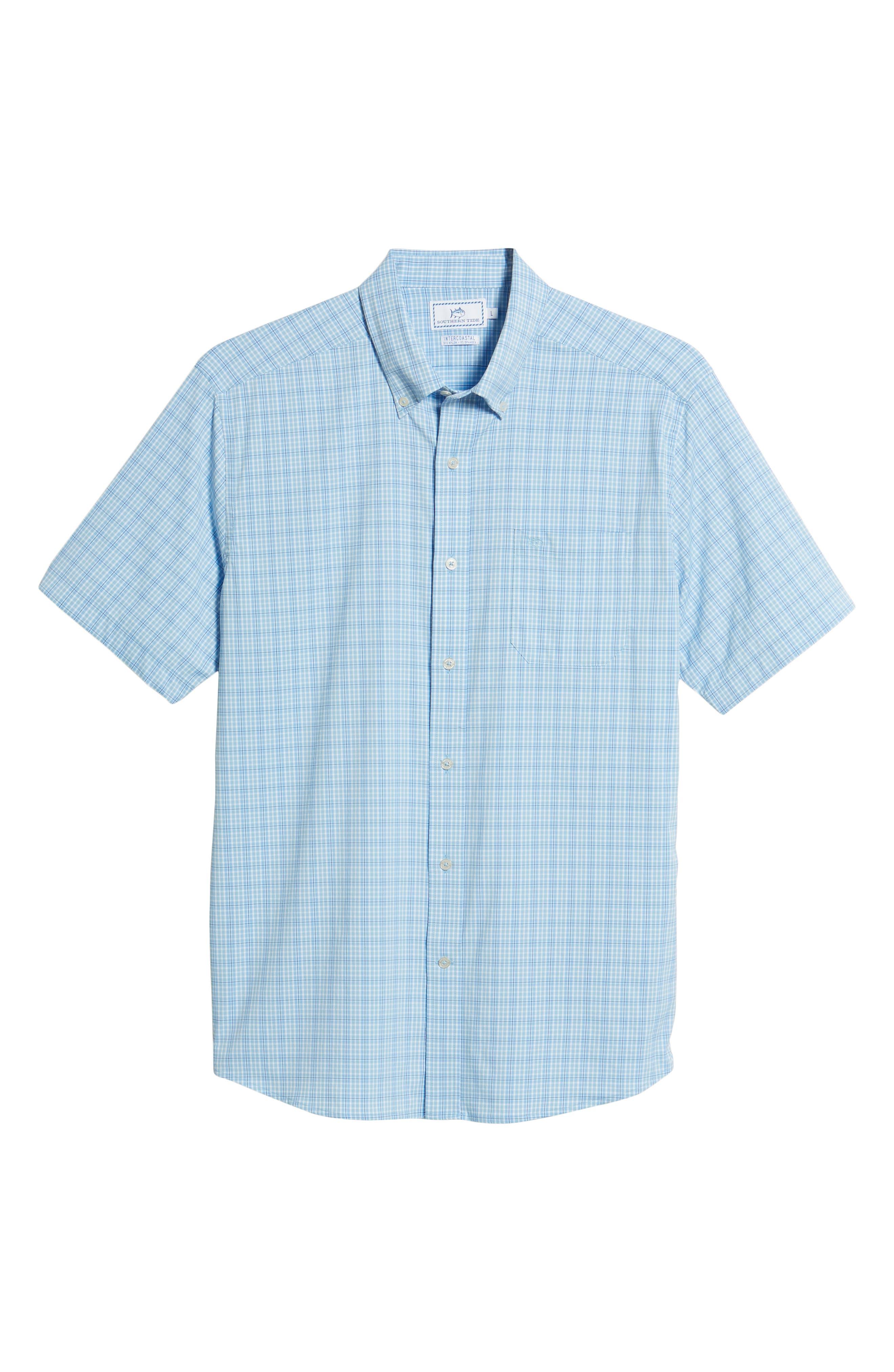 Nautical Mile Regular Fit Plaid Performance Sport Shirt,                             Alternate thumbnail 11, color,