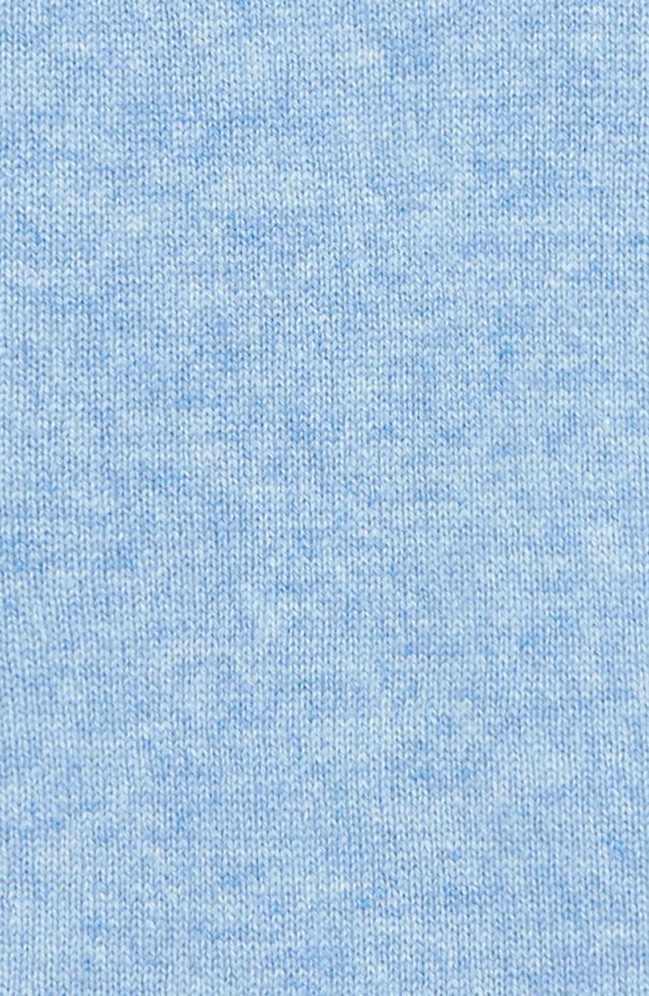 Cashmere Hooded Romper,                             Alternate thumbnail 2, color,                             BLUE WHISPER HEATHER