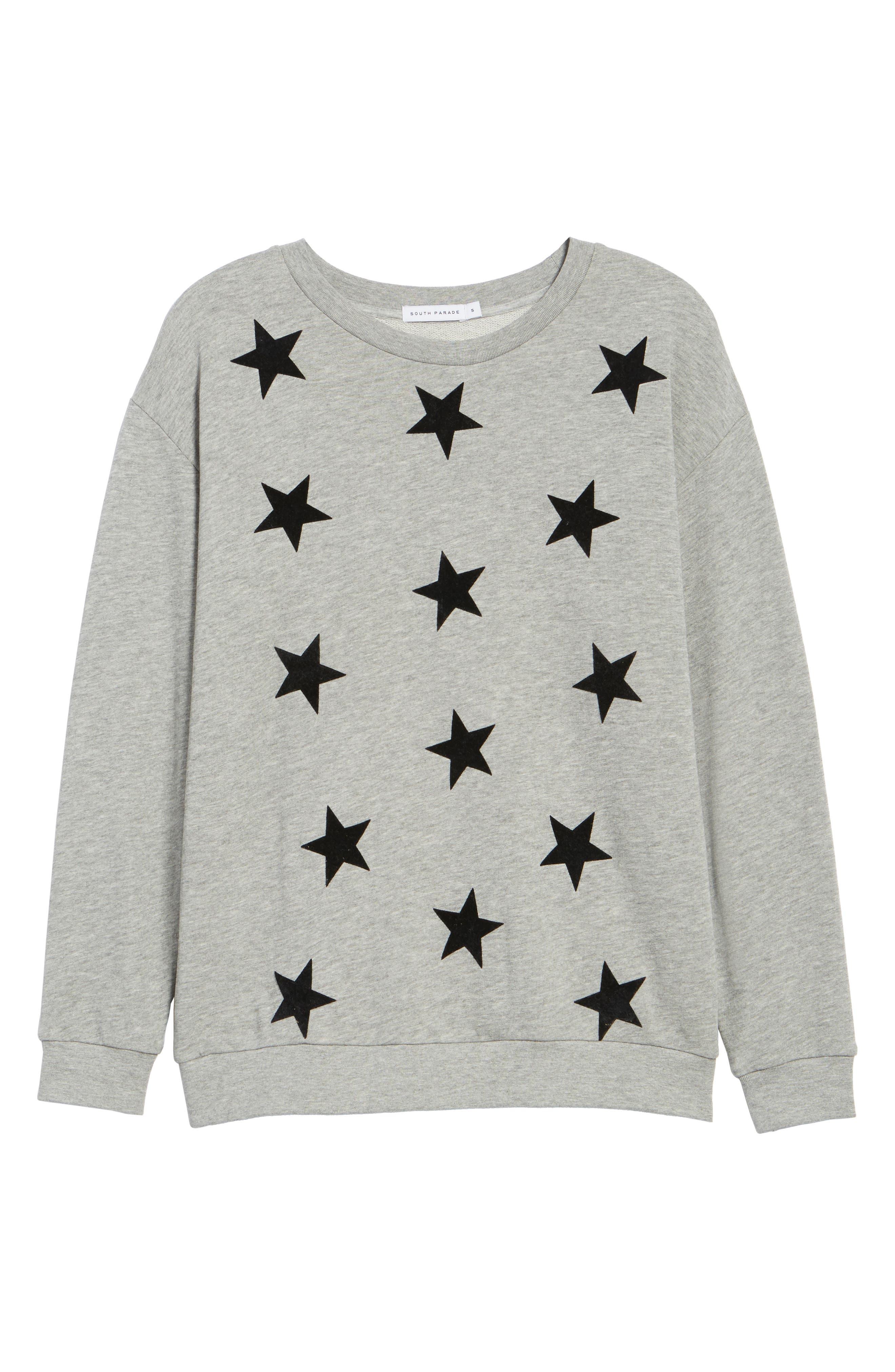 Alexa - Super Stars Sweatshirt,                             Alternate thumbnail 6, color,                             GREY