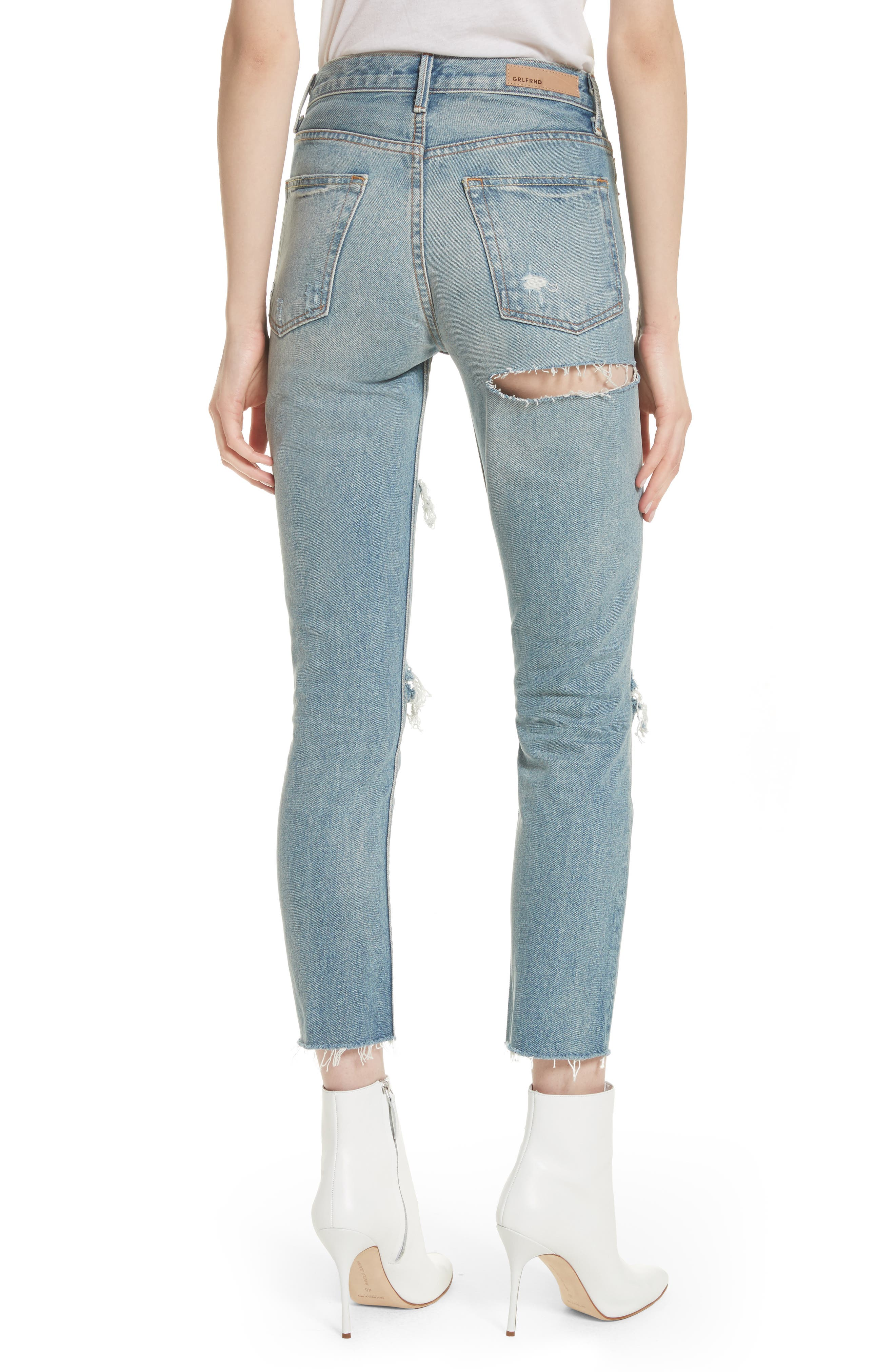 Karolina Ripped Rigid High Waist Skinny Jeans,                             Alternate thumbnail 2, color,                             A LITTLE MORE LOVE