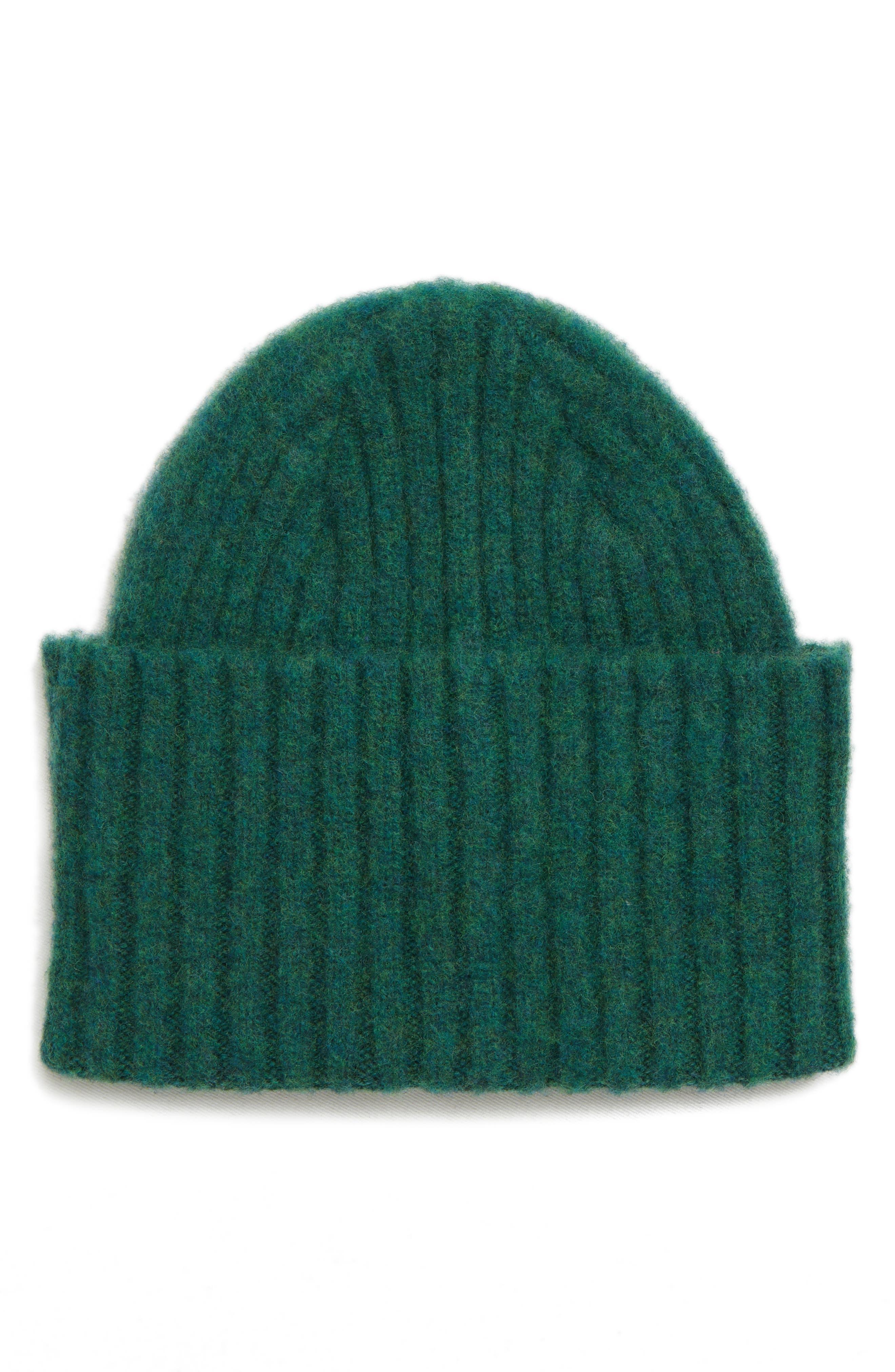 DRAKE'S Drakes Brushed Wool Beanie - Green