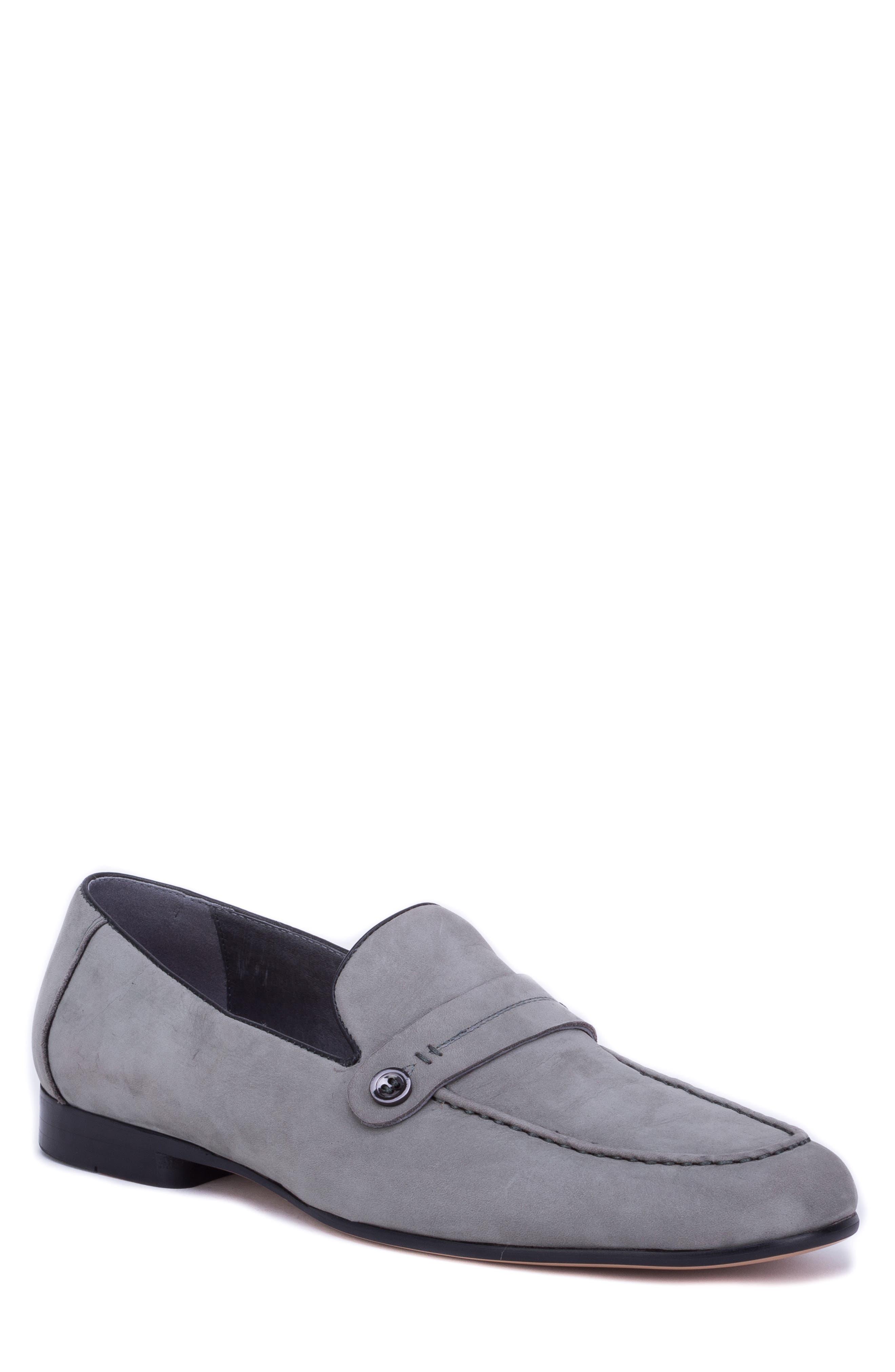 Robert Graham Norris Button Loafer, Grey